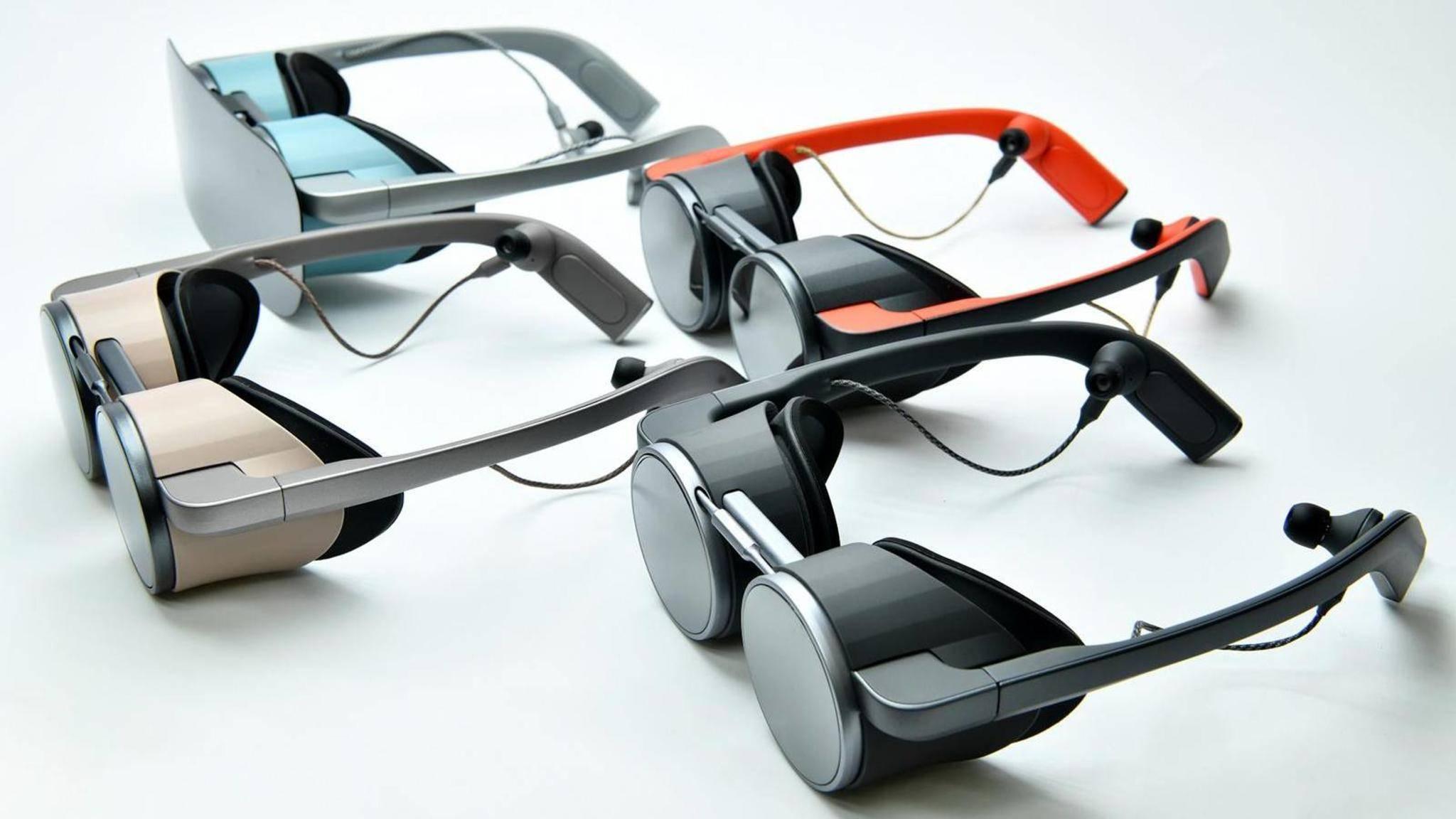 Die VR-Brille von Panasonic hat ein ungewöhnliches Design.