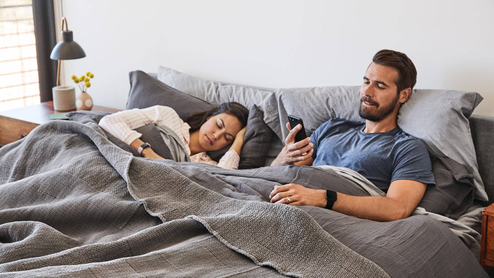 Fitbit Versa 2 bett schlaf