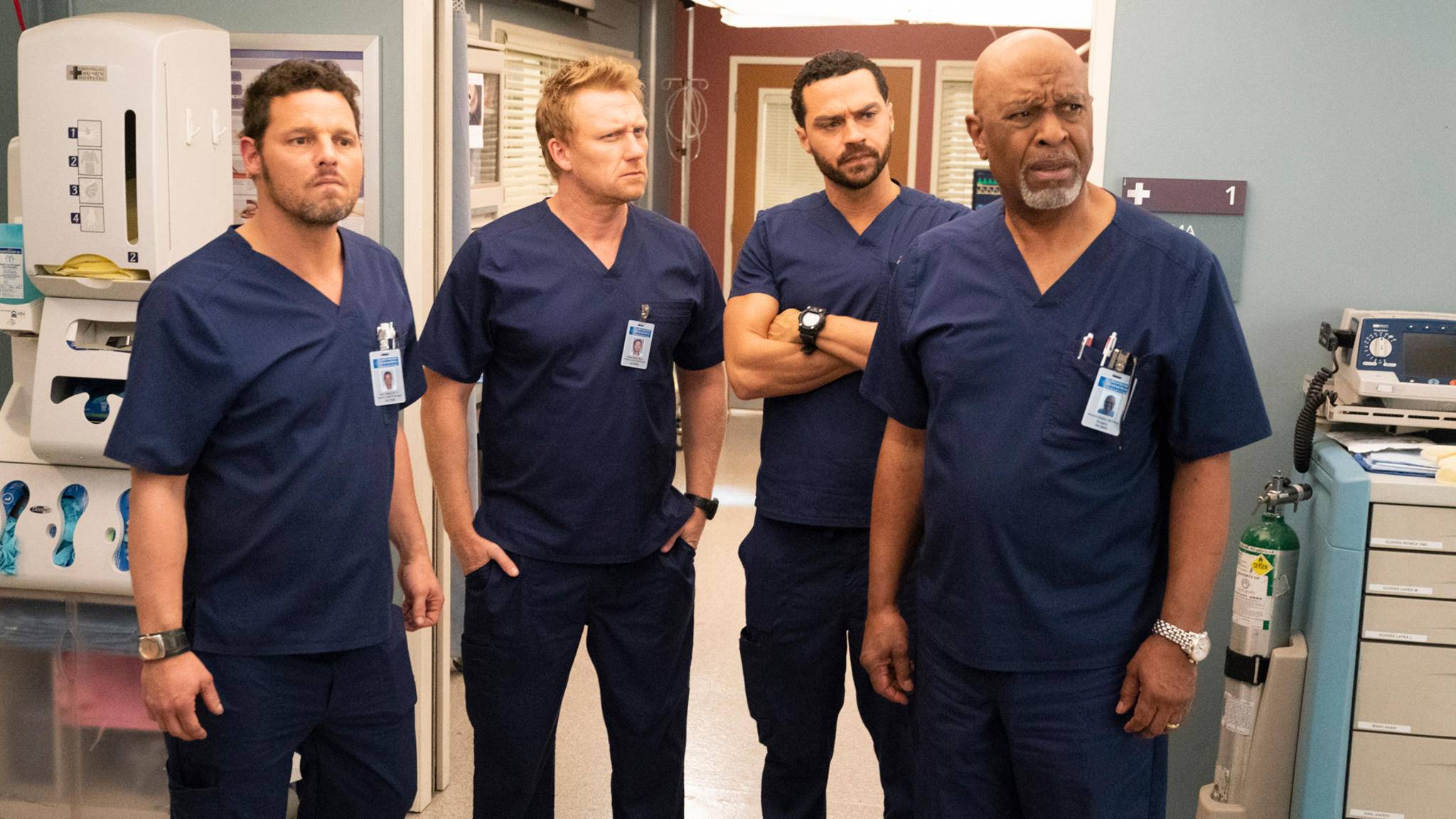 JUSTIN CHAMBERS, KEVIN MCKIDD, JESSE WILLIAMS, JAMES PICKENS JR. grey's anatomy
