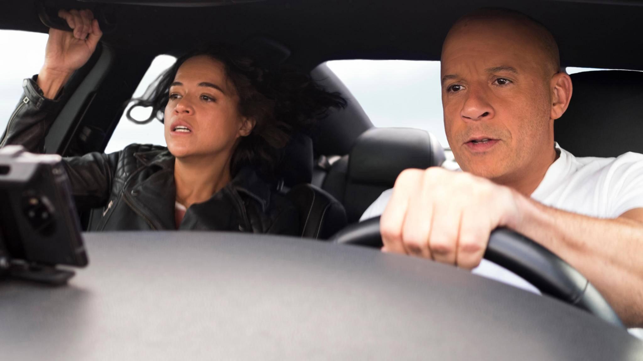Fast & Furious 9 Michelle Rodríguez und Vin Diesel