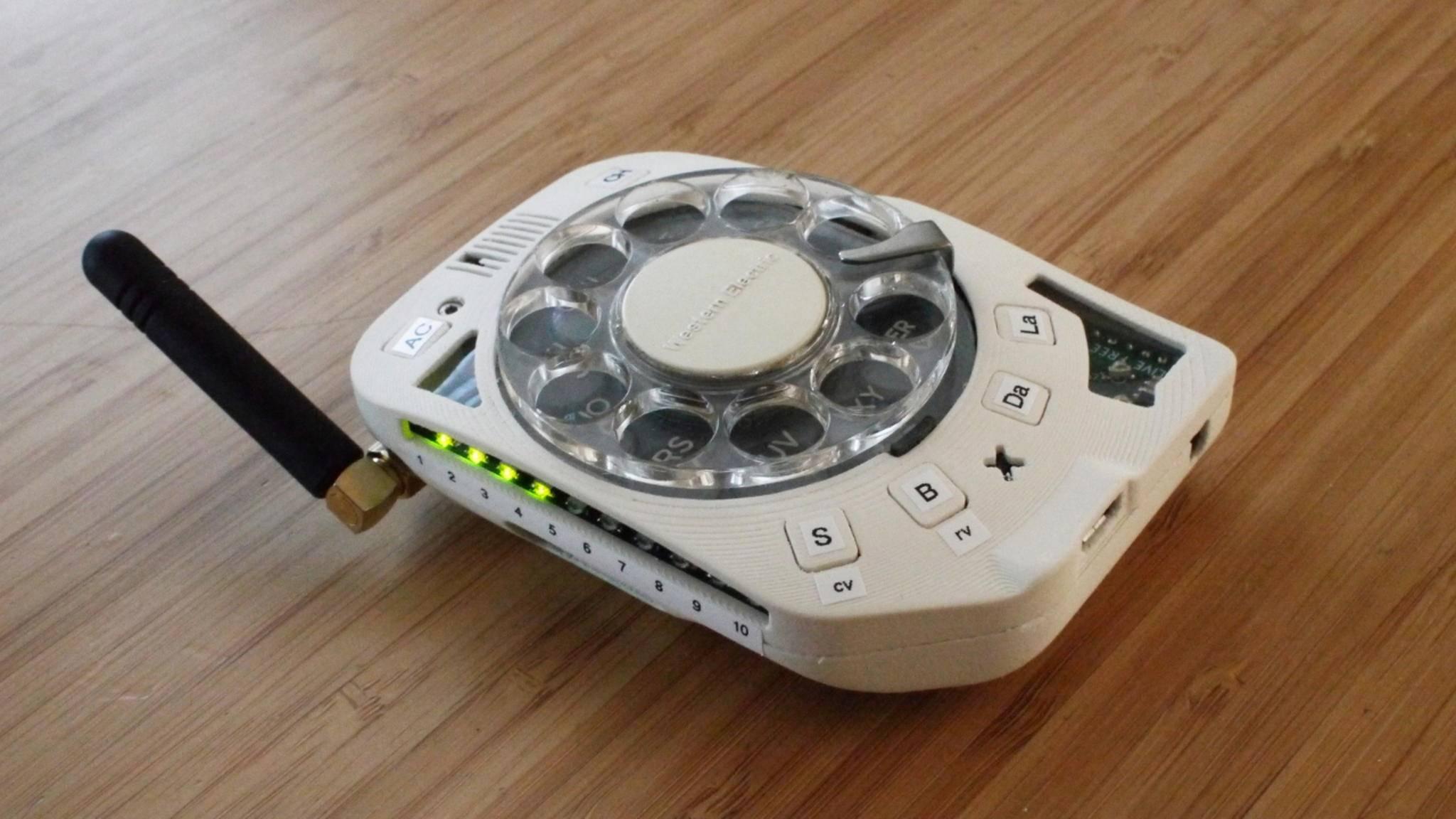 Wählscheiben-Mobiltelefon