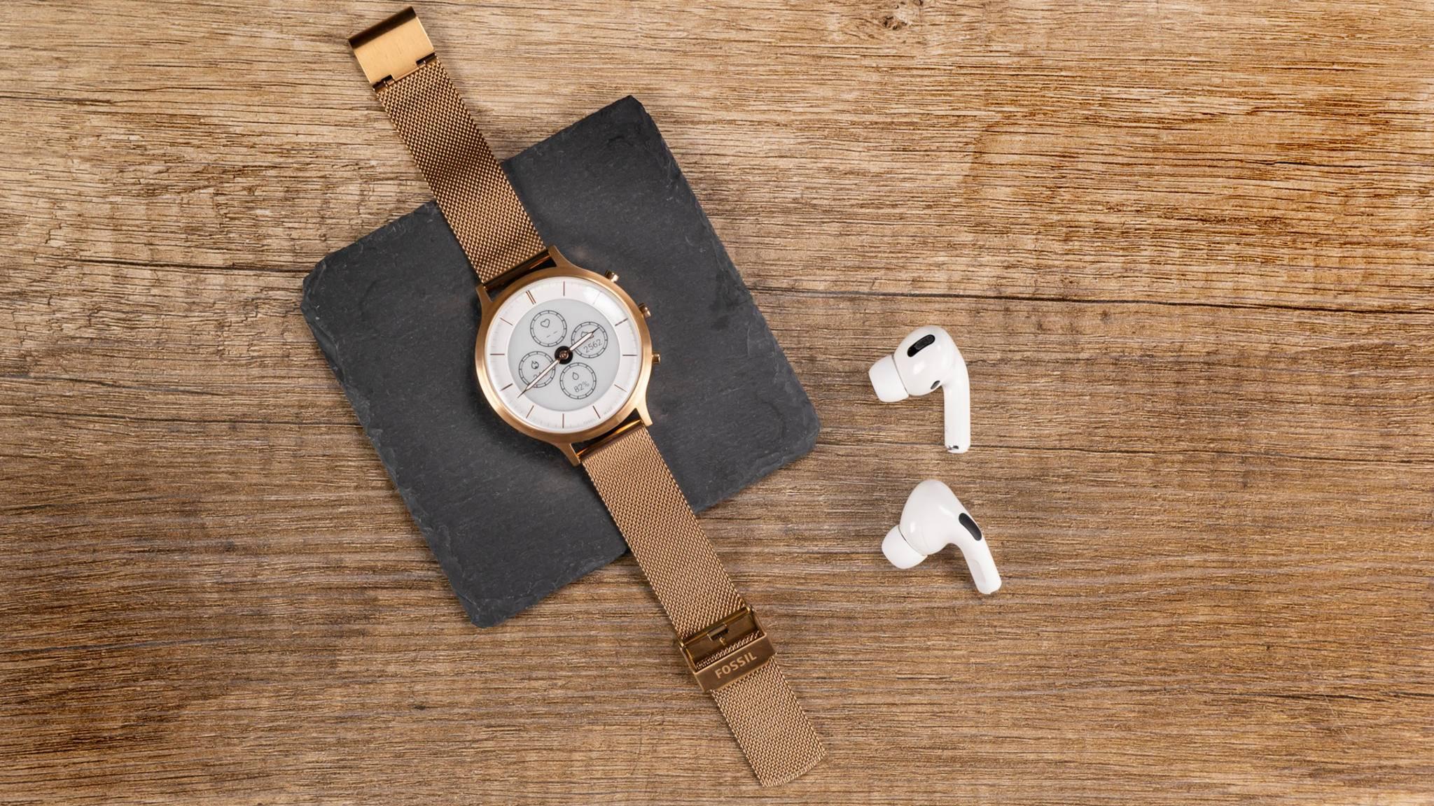 Elegante Damenuhr mit smartem Touch: Die Hybrid HR passt zu jedem Outfit.