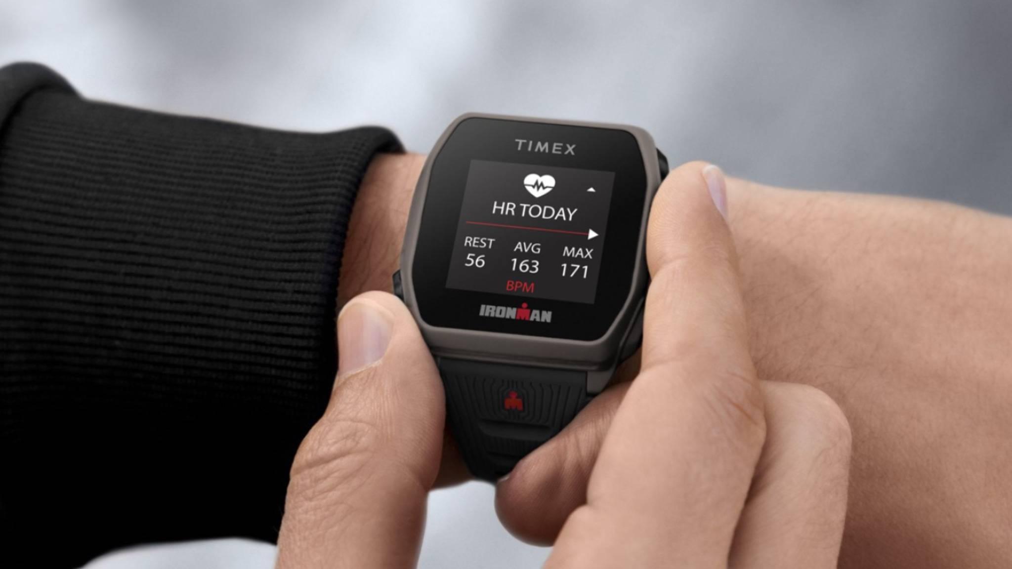 timex sportuhr am Handgelenk