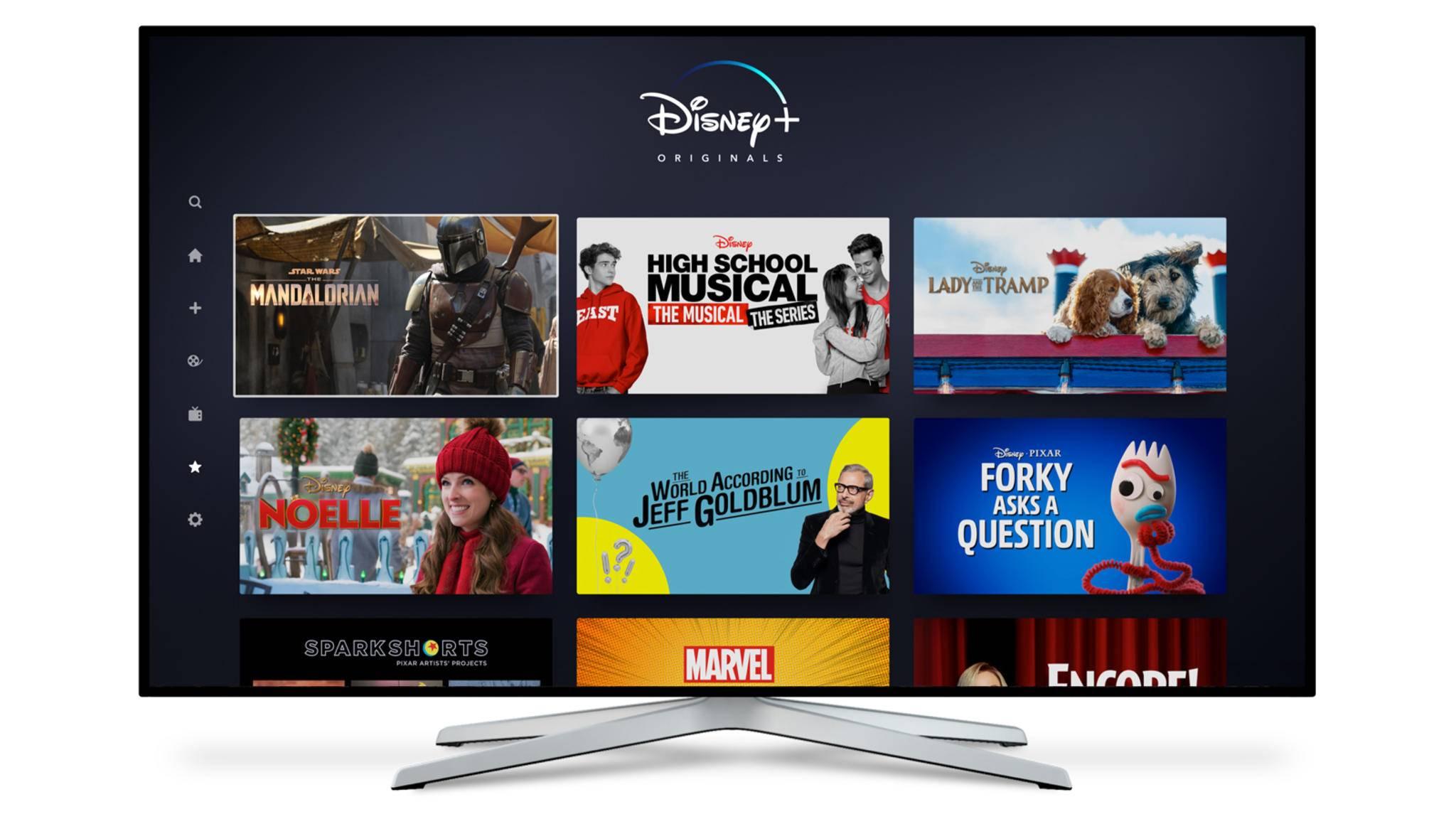 So in etwa sieht der Homescreen aus, wenn Du Disney+ über die PS4 startest.