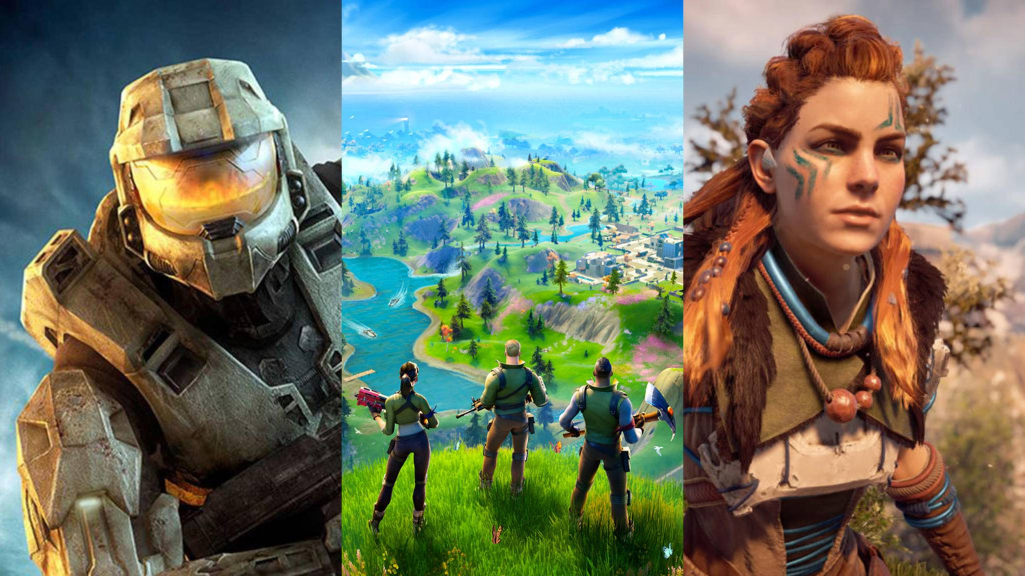 halo-fortnite-horizon-zero-dawn-collage