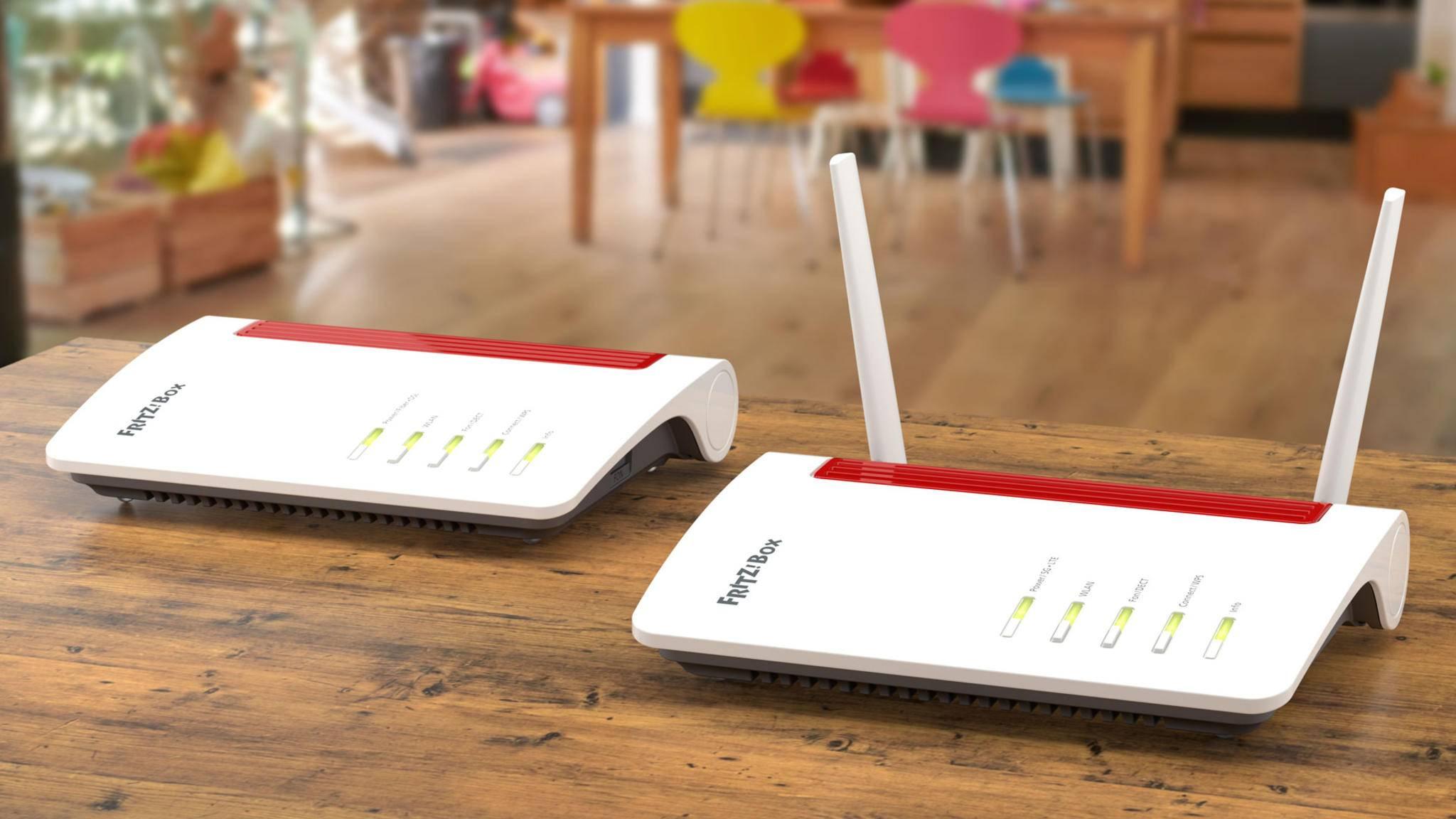 Die Fritz-Boxen 6850 und 5550, die Wi-Fi 6 beherrschen