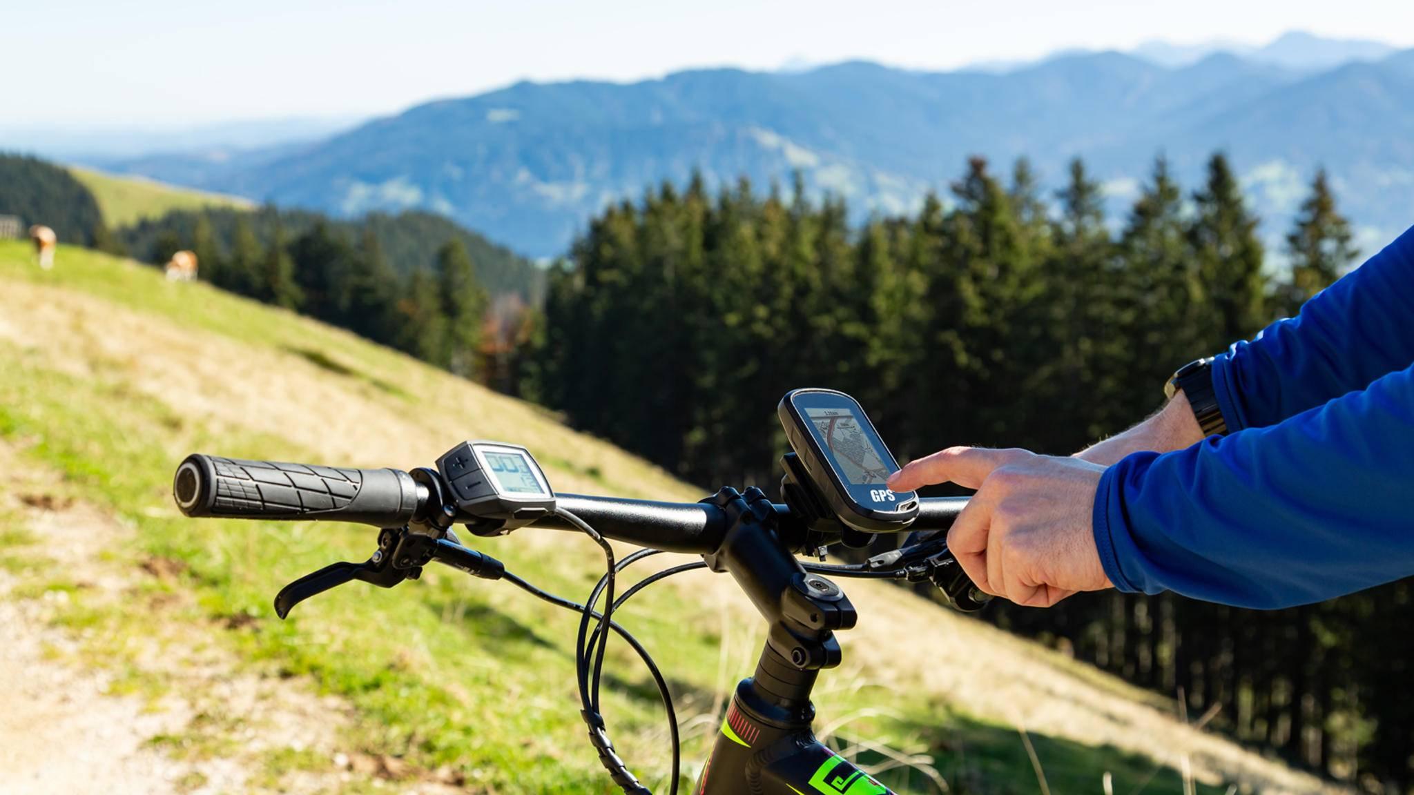 Fahrradnavi GPS Navigation am Mountainbike