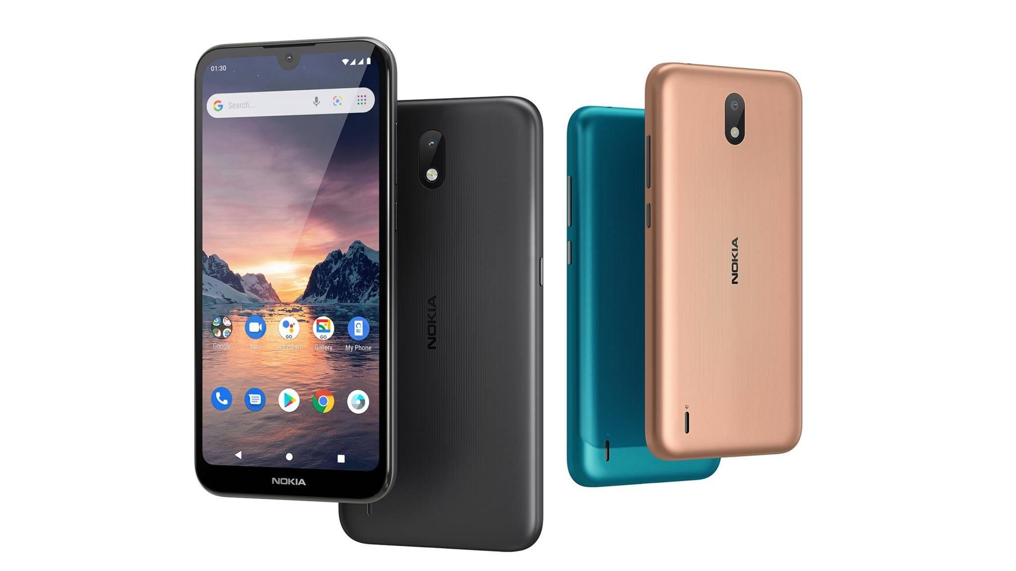 Das Nokia 1.3 kommt in drei Farbausführungen.
