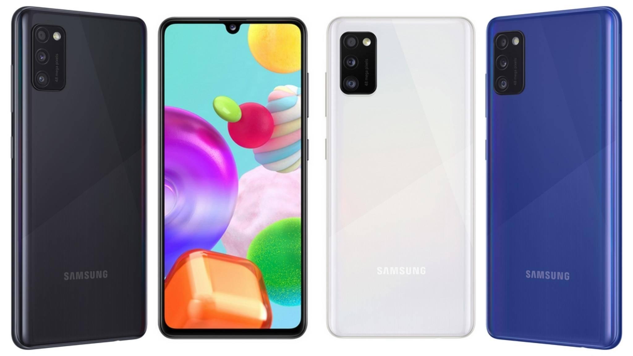 Das Galaxy A41 präsentiert sich im modernen Design.
