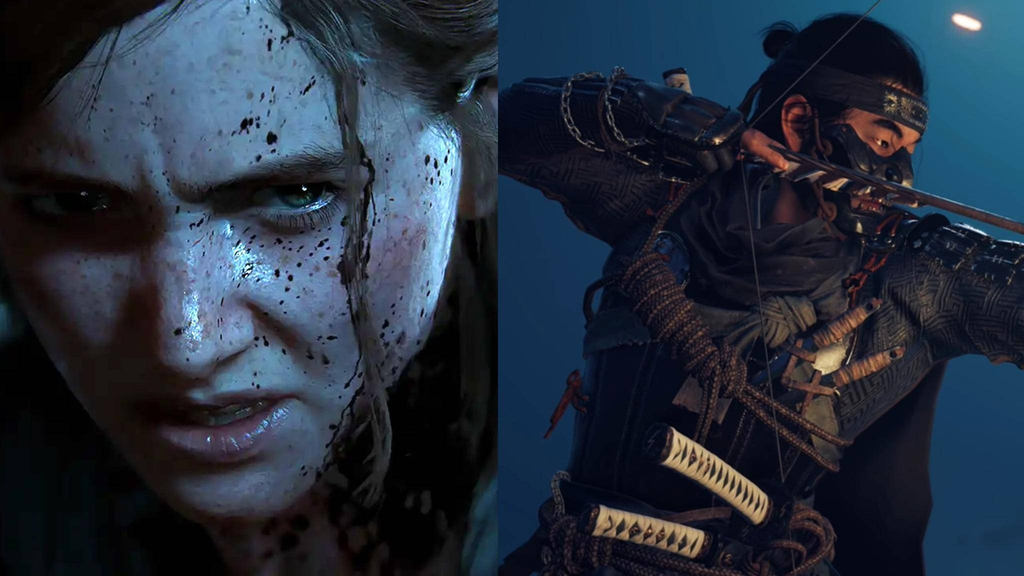 last-of-us-2-ghost-of-tsushima-collage
