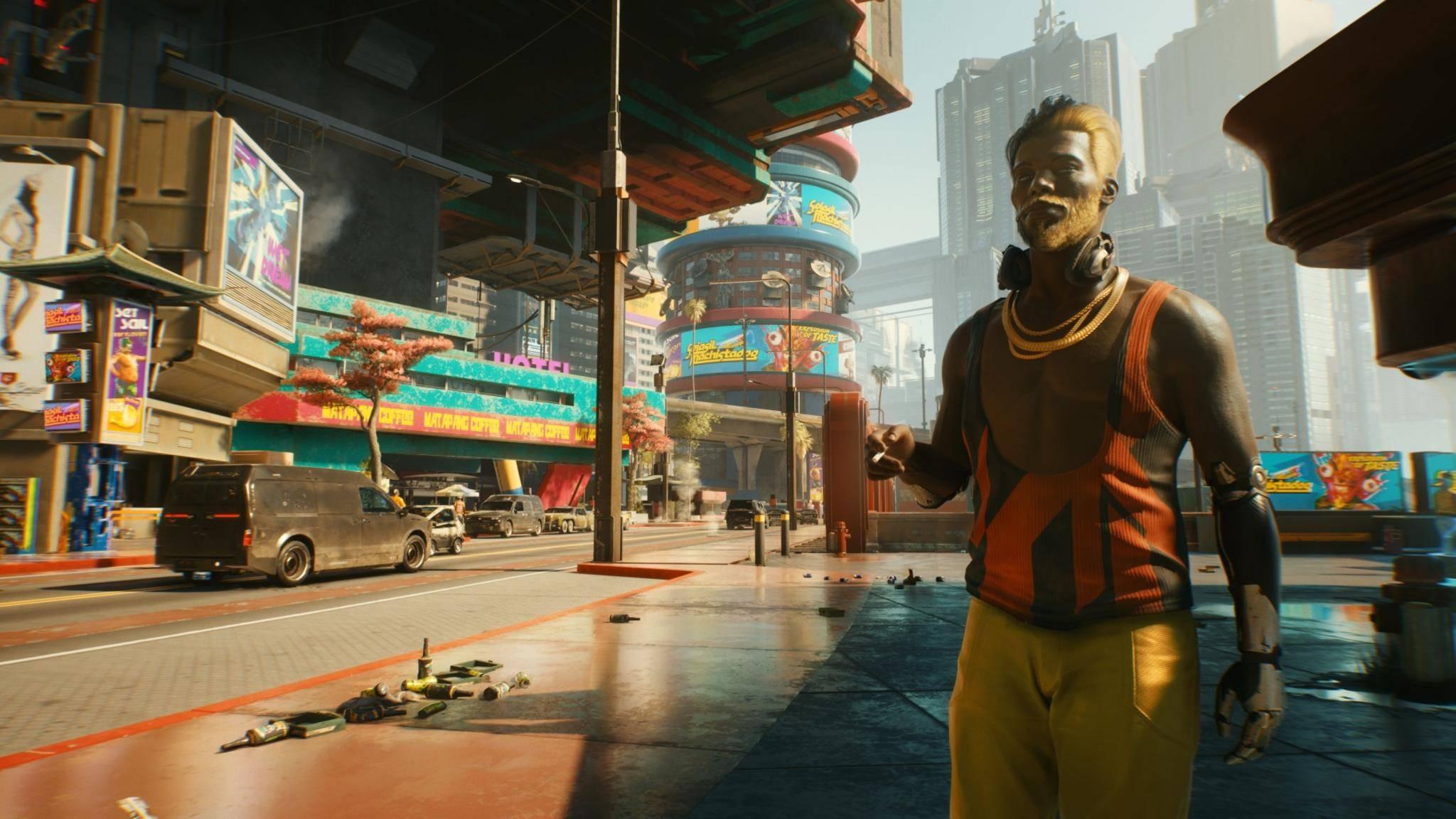 """Die Welt von """"Cyberpunk 2077"""" ist riesig, die Installationsgröße soll aber locker unter 200 GB bleiben."""