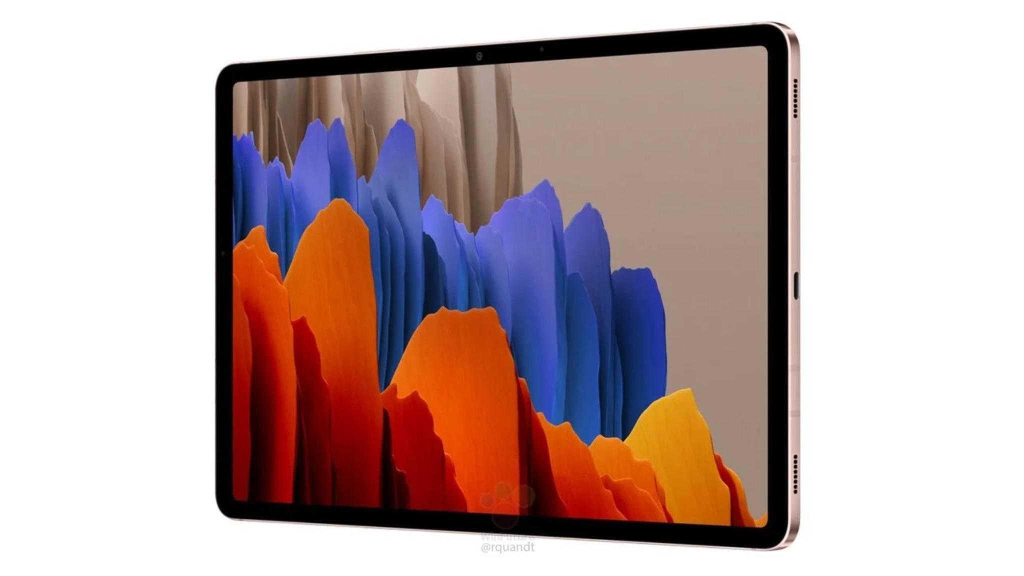 Das Galaxy Tab S7 soll erstmals in zwei Displaygrößen erhältlich sein: 11 und 12,4 Zoll.