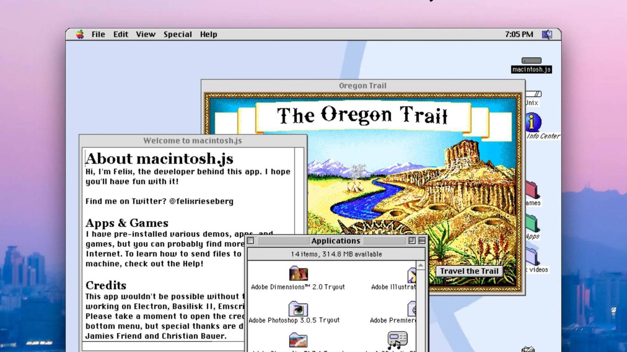 Nicht schön, aber selten: macOS 8 als App.