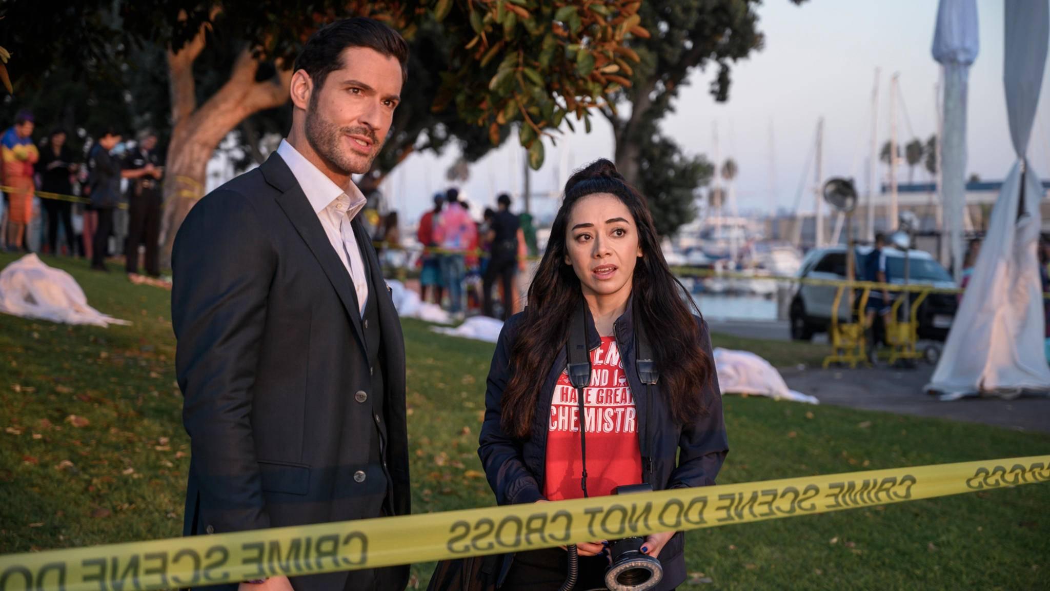 Lucifer Staffel 5 Tom Ellis und Aimee Garcia als Lucifer und Ella