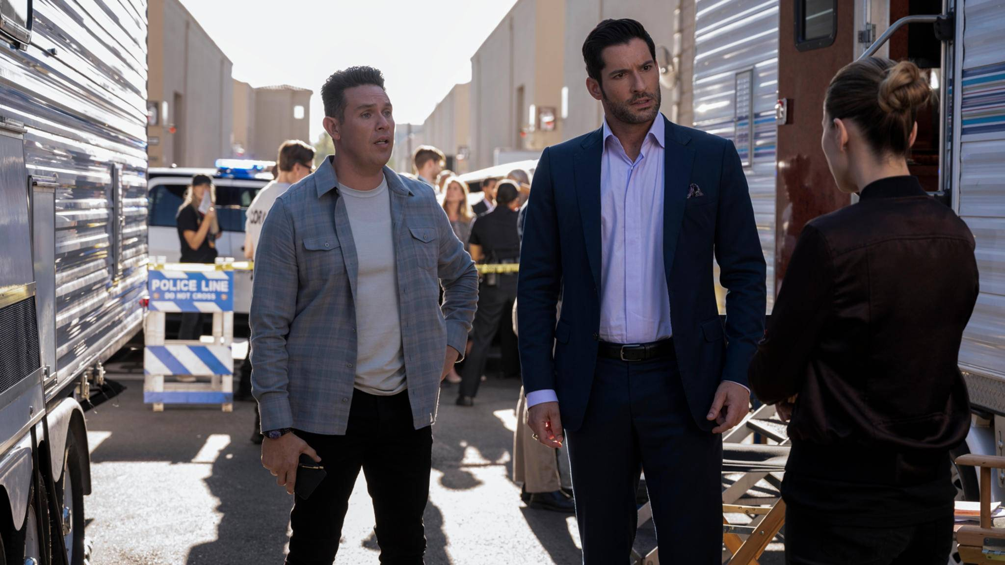 Lucifer Staffel 5 Kevin Alejandro, Tom Ellis und Lauren German