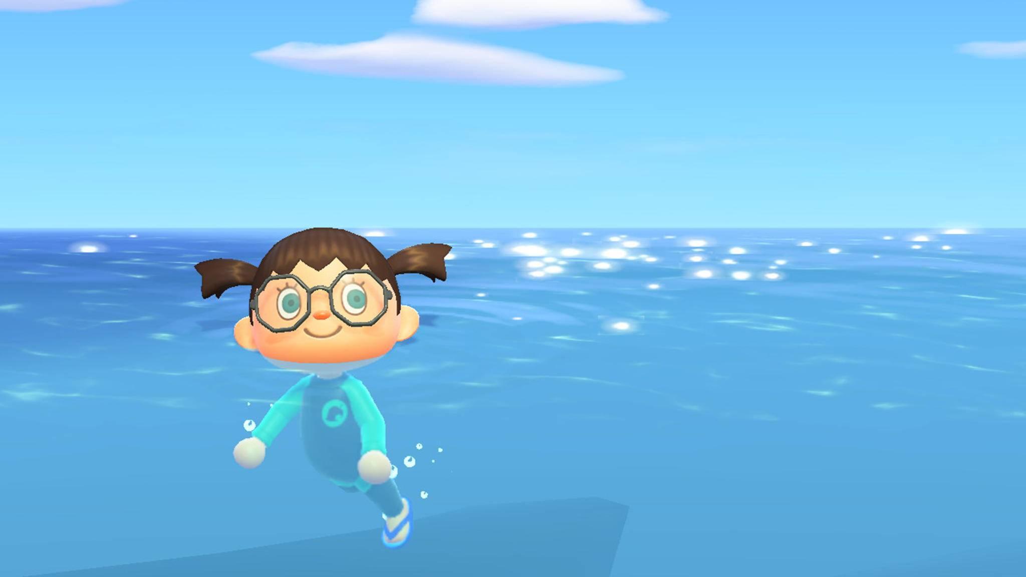 Animal Crossing New Horizons schwimmen