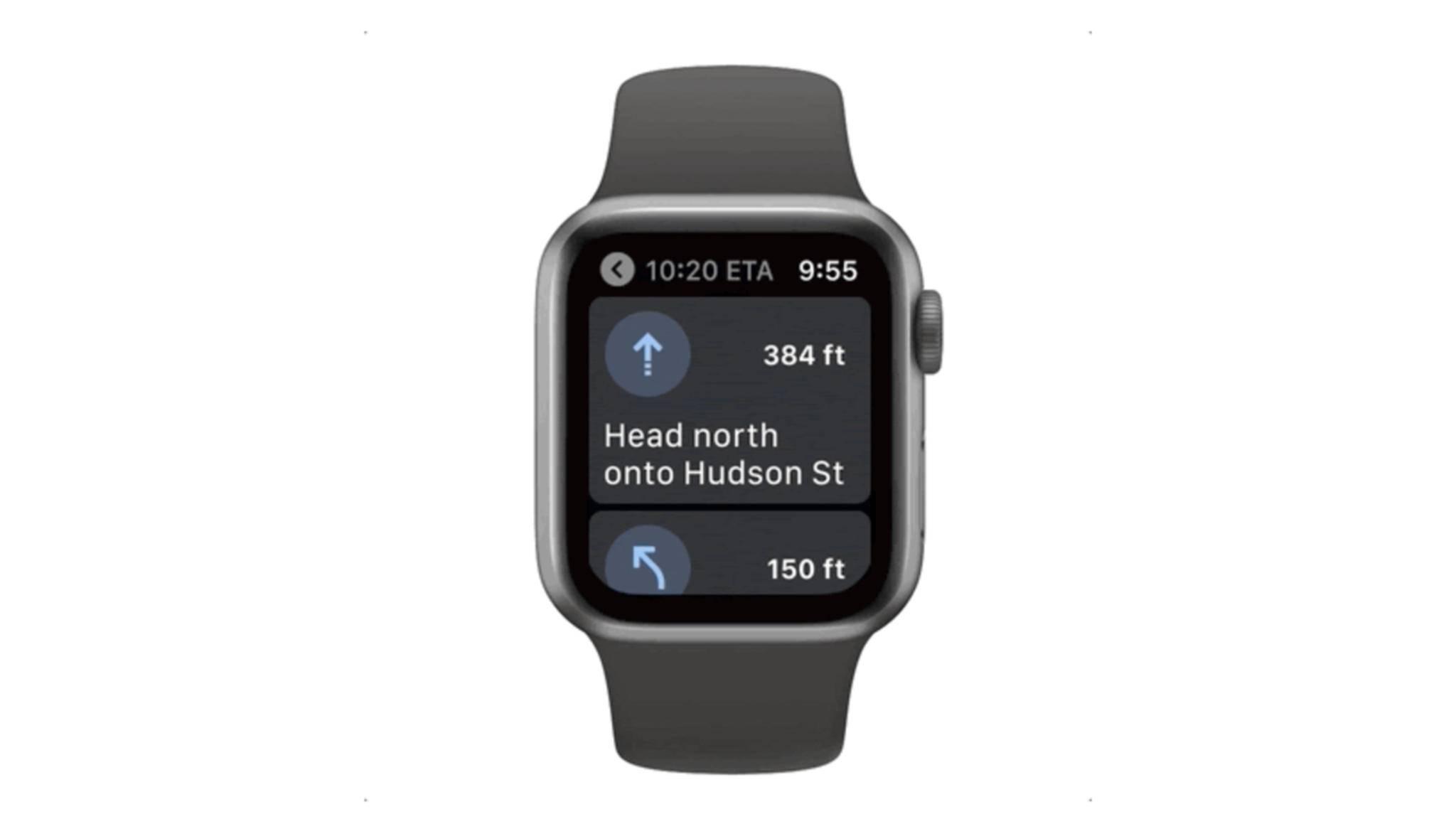 Google Maps für die Apple Watch wird in den kommenden Wochen ausgerollt.