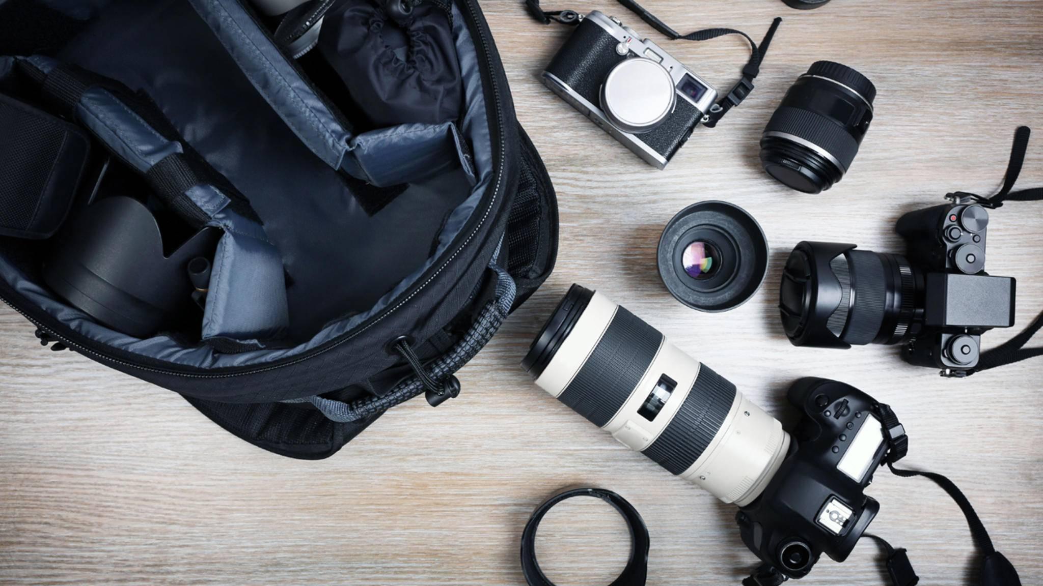 Eine Kameratasche muss zum eigenen Kamera-Set-up passen.