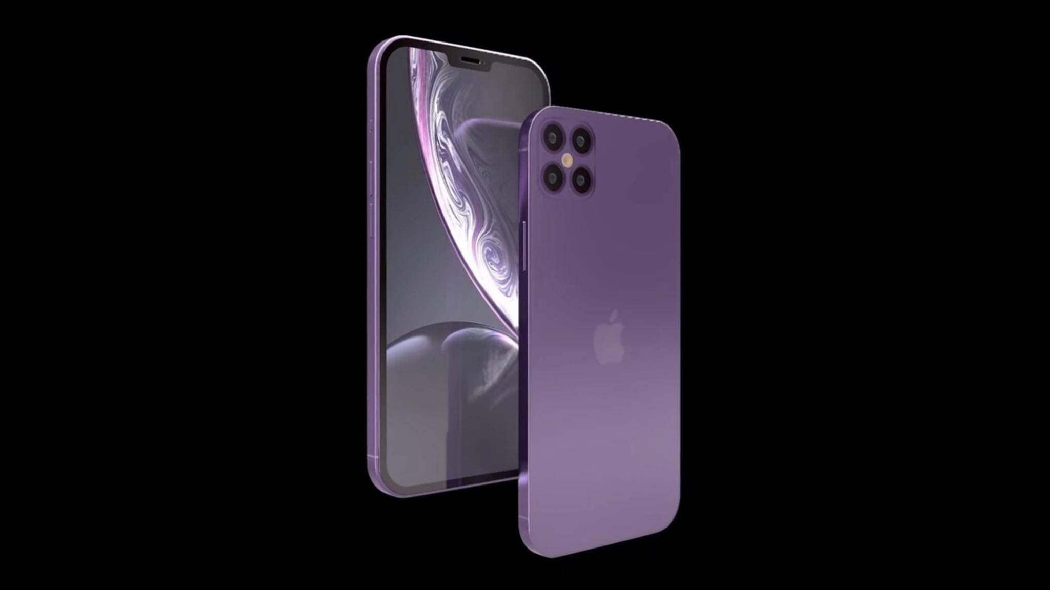Dieses Konzept zeigt das iPhone 12 mit vier Kameralinsen auf der Rückseite.