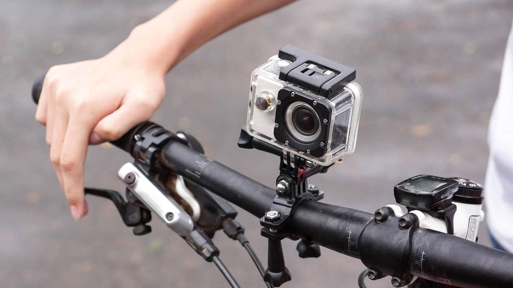 Action-Cam am Fahrradlenker