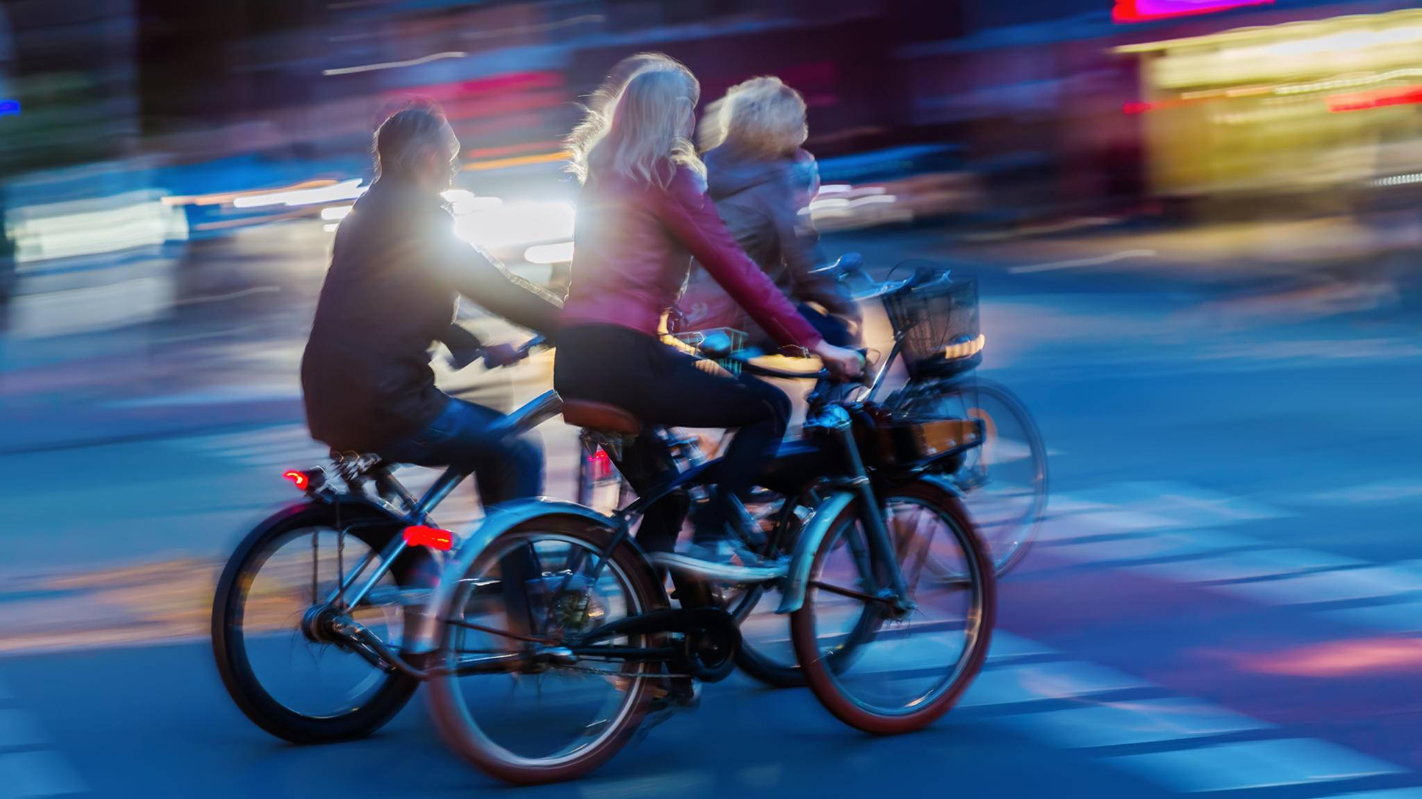 Fahrrad Beleuchtung Stadt