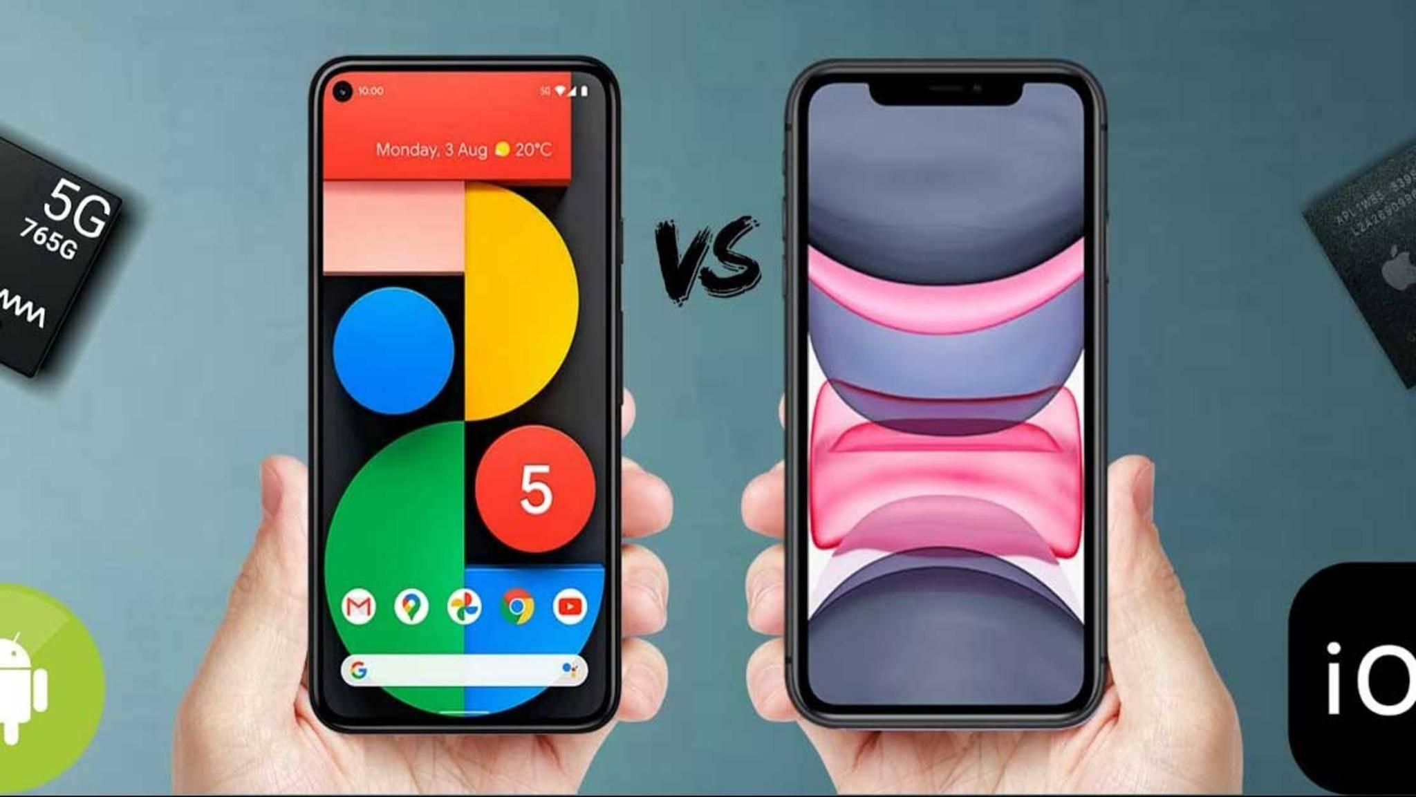 pixel-5-vs-iphone-11