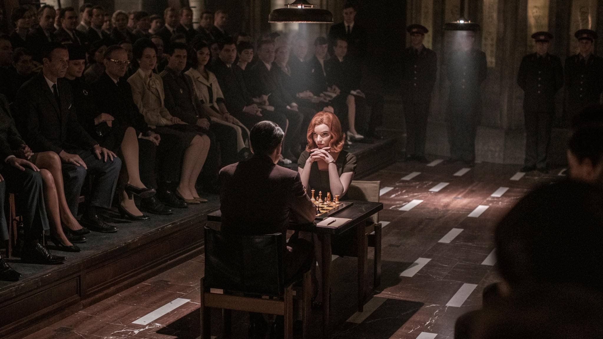 Das Damengambit Anya Taylor-Joy als Beth Harmon, Marcin Dorocinski als Vasily Borgov