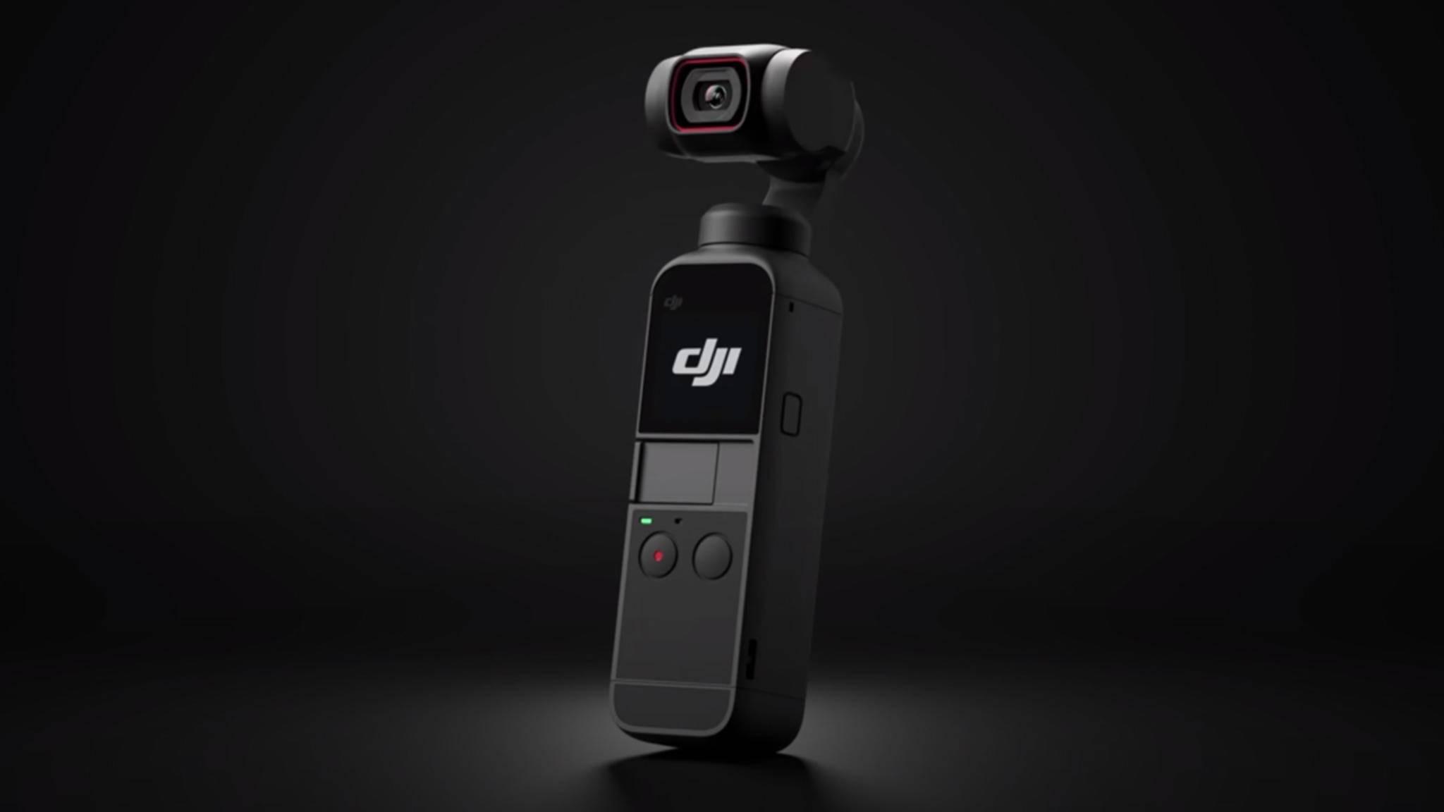 Superkompakte Kamera für butterweiche Aufnahmen ohne Verwacklungen: der DJI Pocket 2
