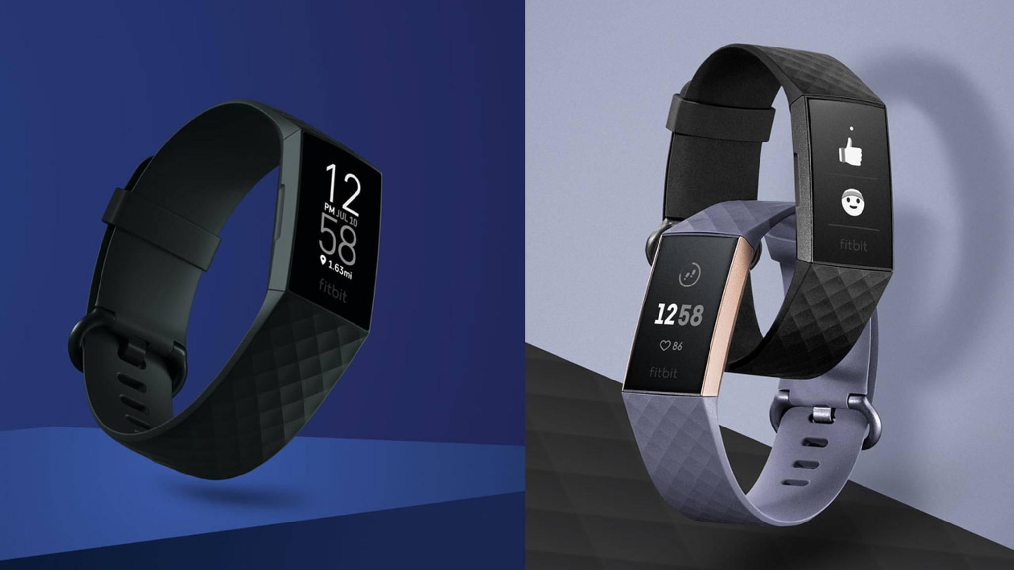 Optisch findest Du kaum Unterschiede zwischen dem Fitbit Charge 4 (links) und dem Fitbit Charge 3 (rechts).
