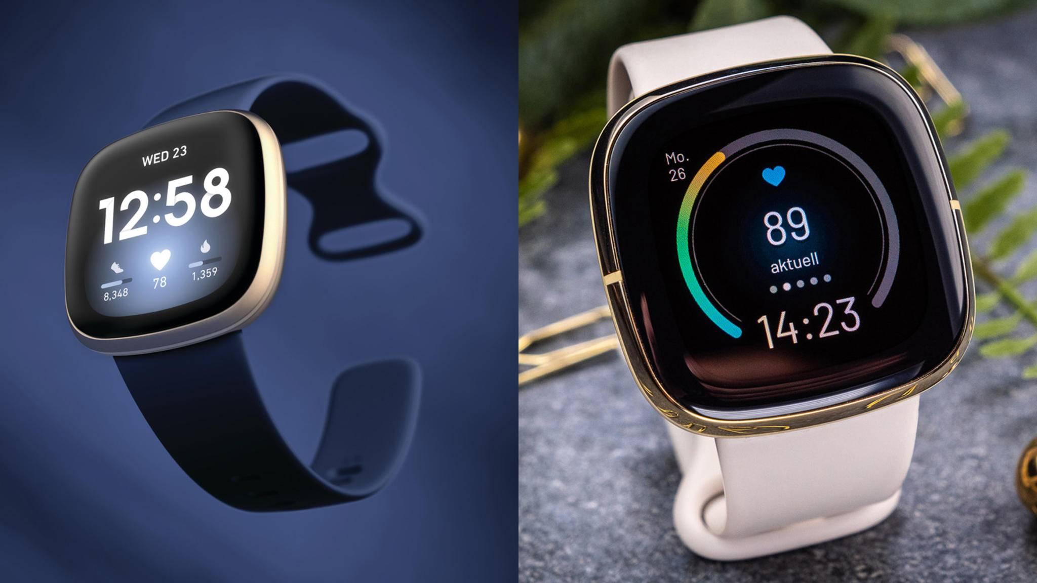 Fitbit Versa 3 und Fitbit Sense Collage