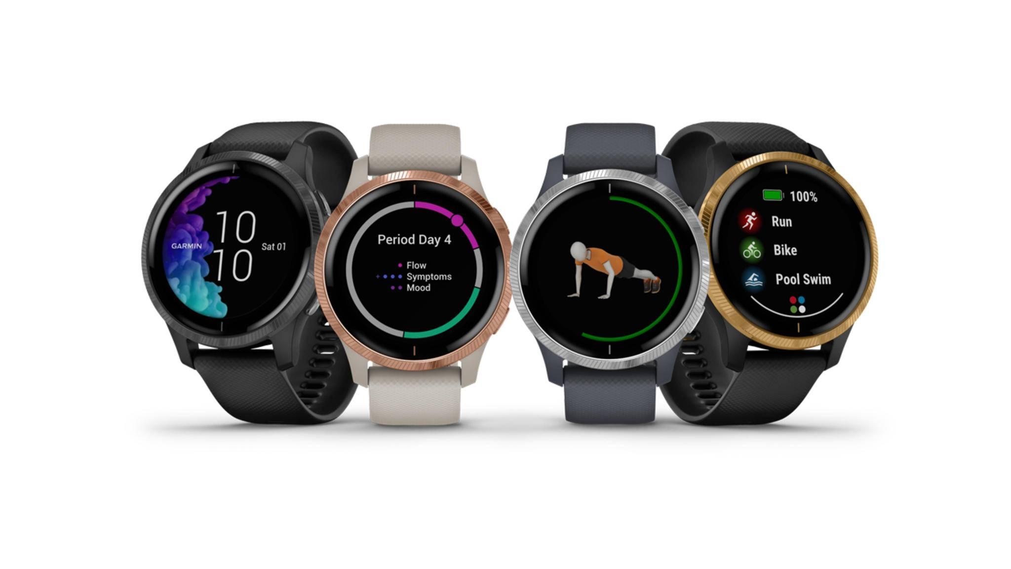Stiftung Warentest hat neue Smartwatches getestet, darunter auch die Garmin Venu (im Bild).