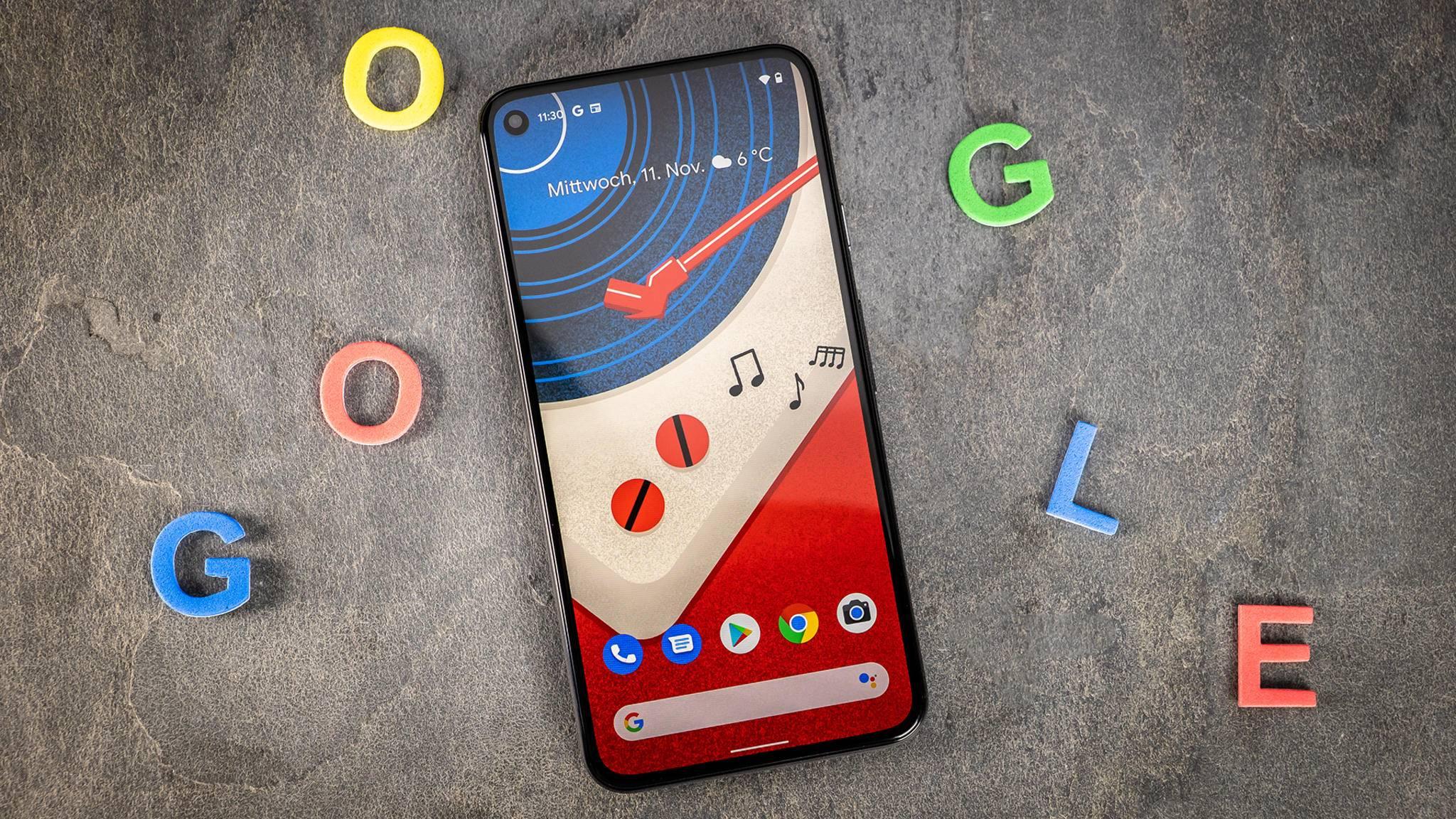 Das Google Pixel 5 hat die schmalsten Displayränder aller Pixel-Phones.