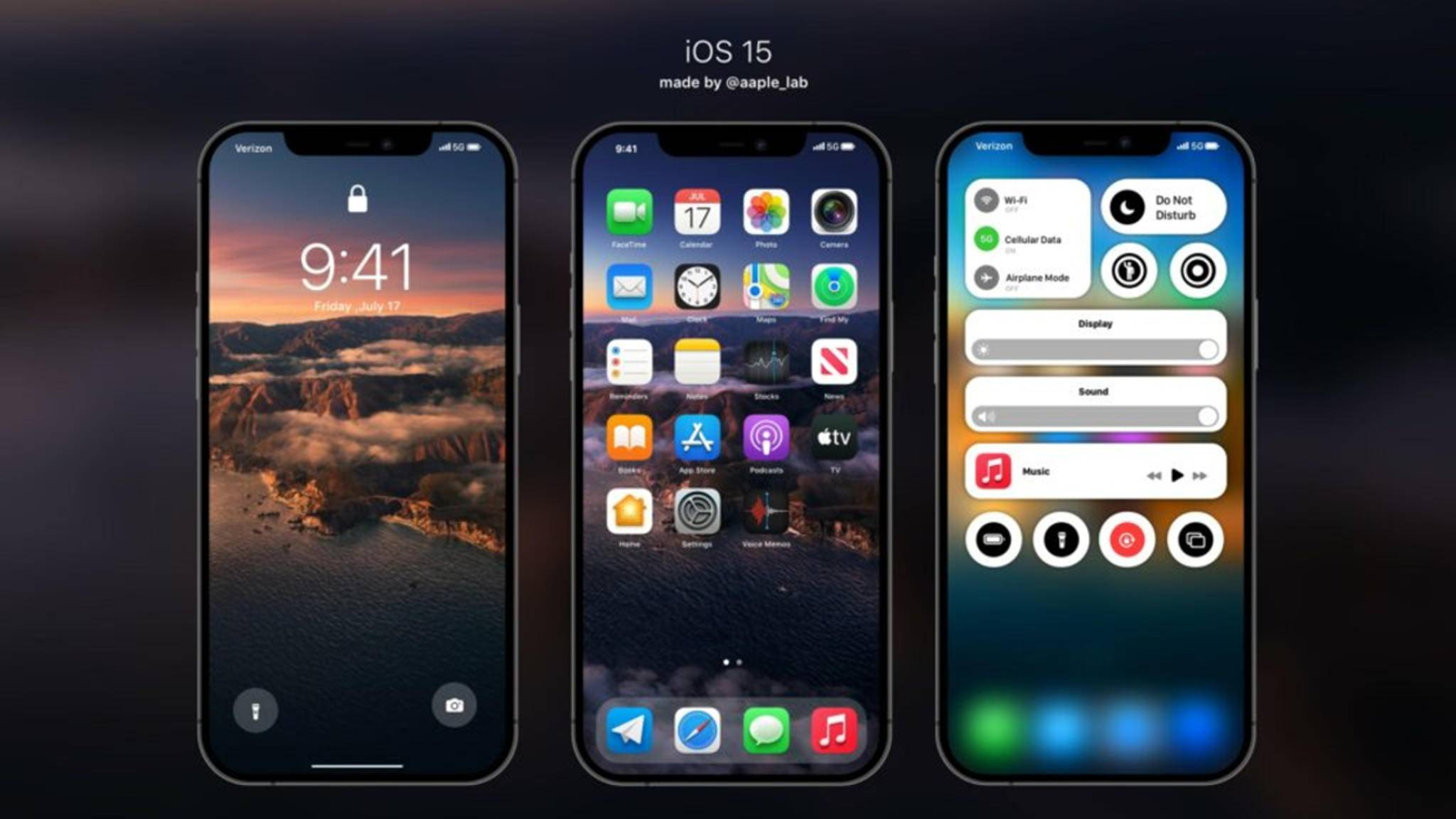 iOS-15-Konzept