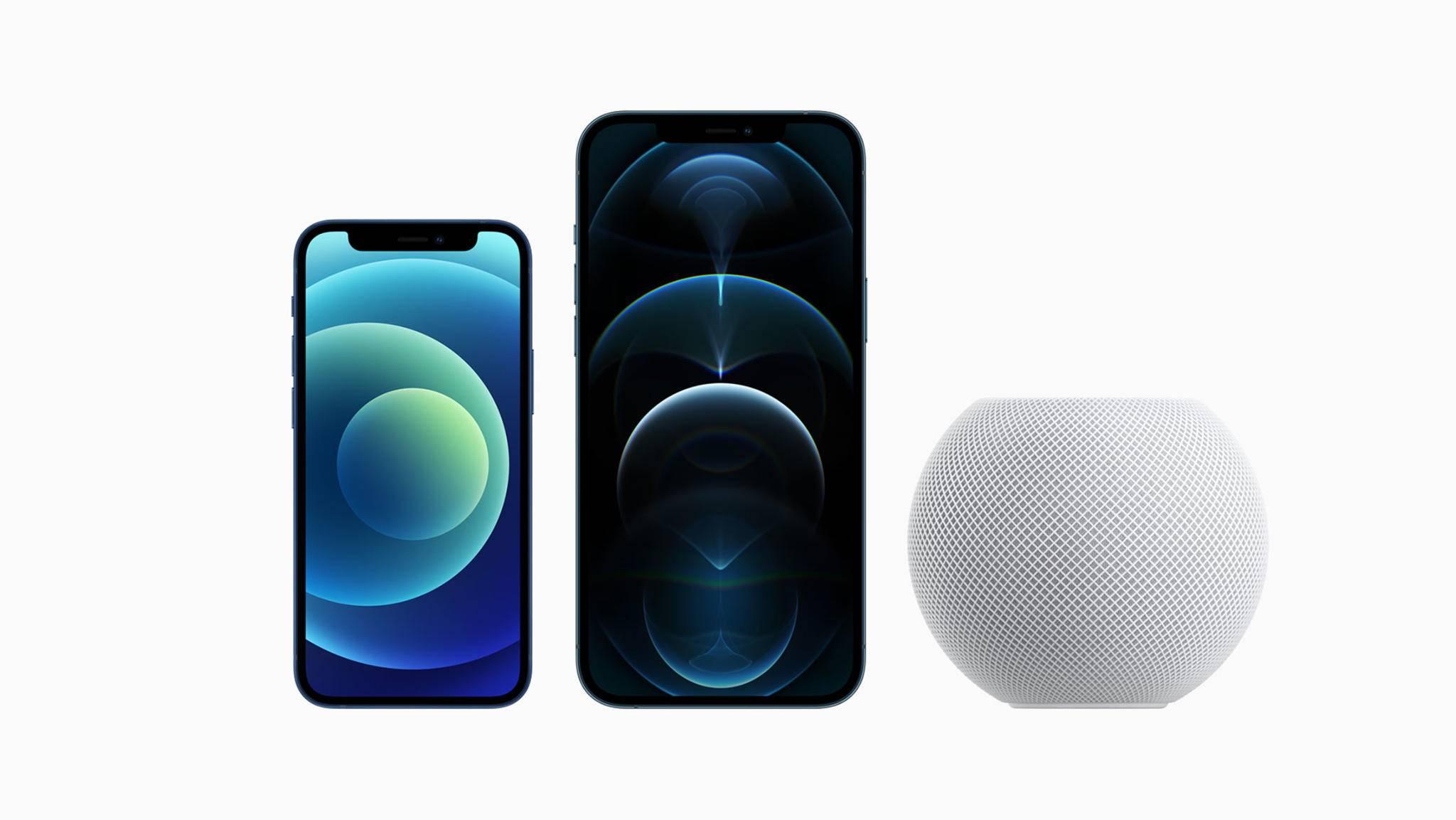 Das iPhone 12 mini und iPhone 12 Pro Max sind jetzt im Handel erhältlich – der HomePod min folgt am 16. November.