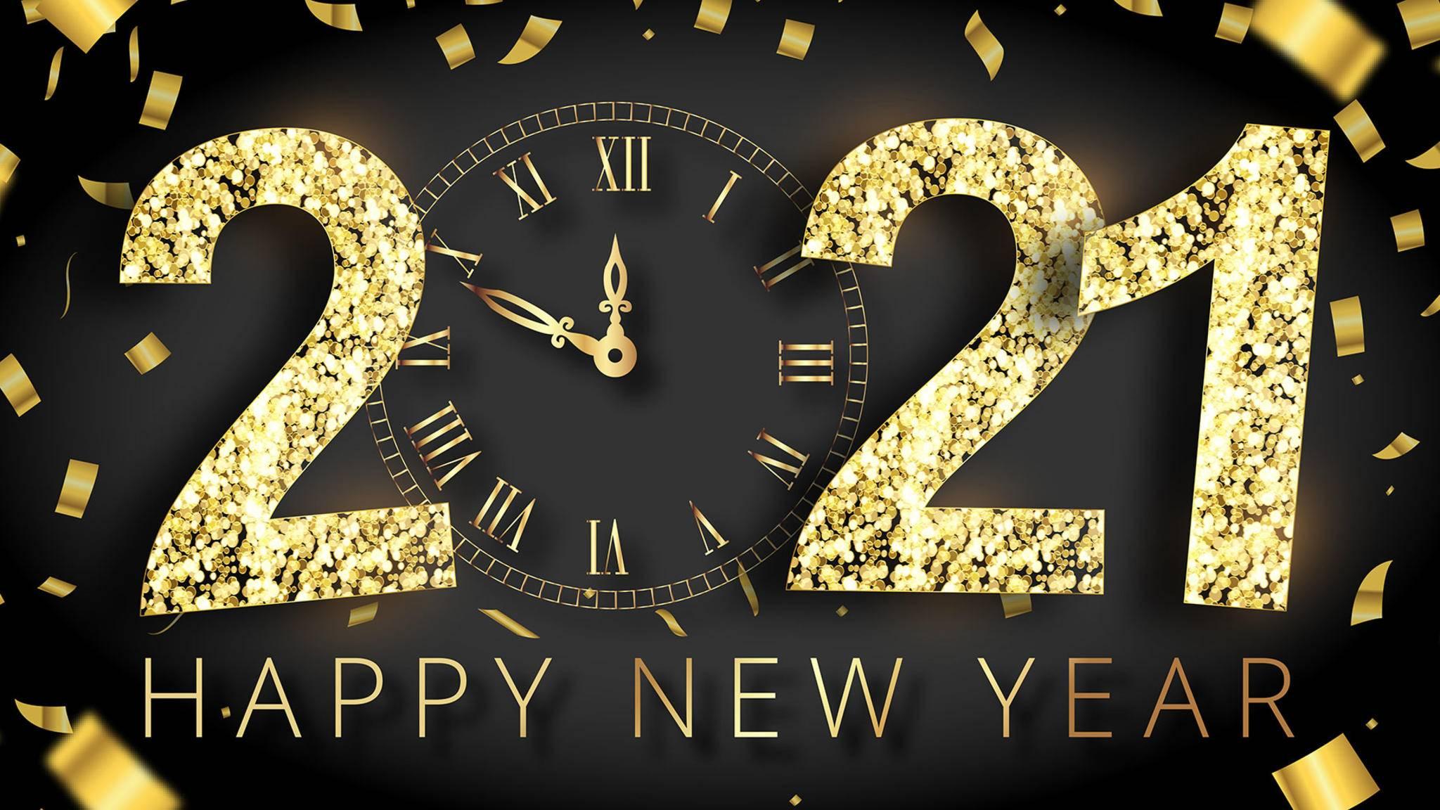 Feier das neue Jahr mit einem lieben Gruß an Freunde und Verwandte!