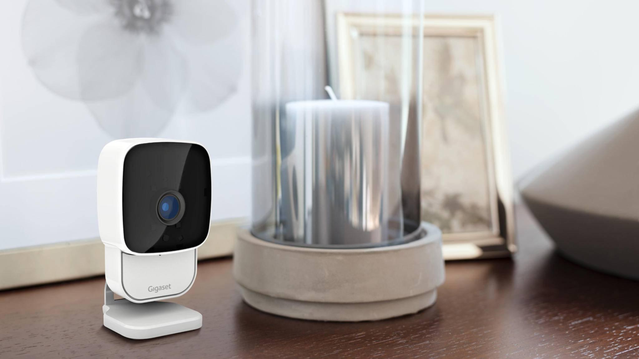 Die Gigaset-Kamera liefert Livebilder von zu Hause aufs Smartphone.