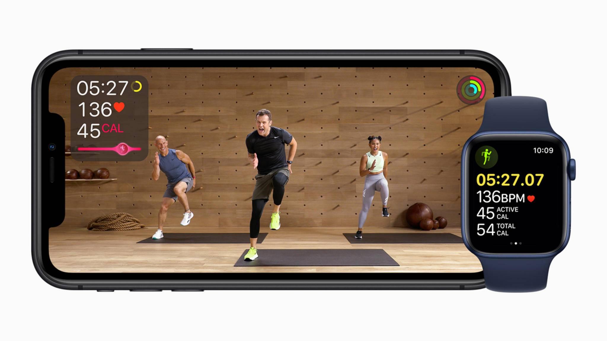 Apple Fitness+ bringt Apple-Watch-Besitzer zum Schwitzen.