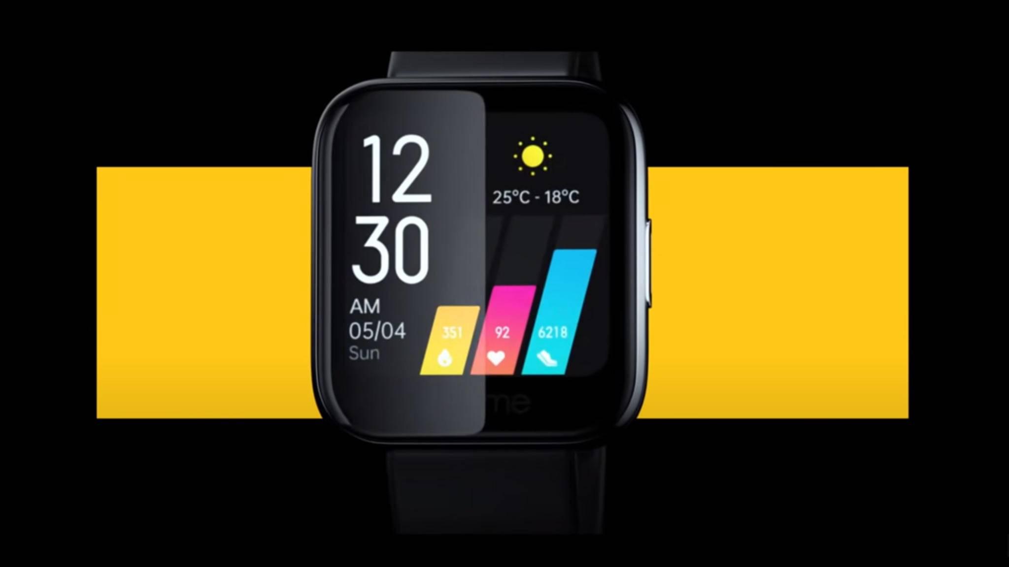 Wie die erste Realme Watch wird auch die zweite Generation wieder eckig.