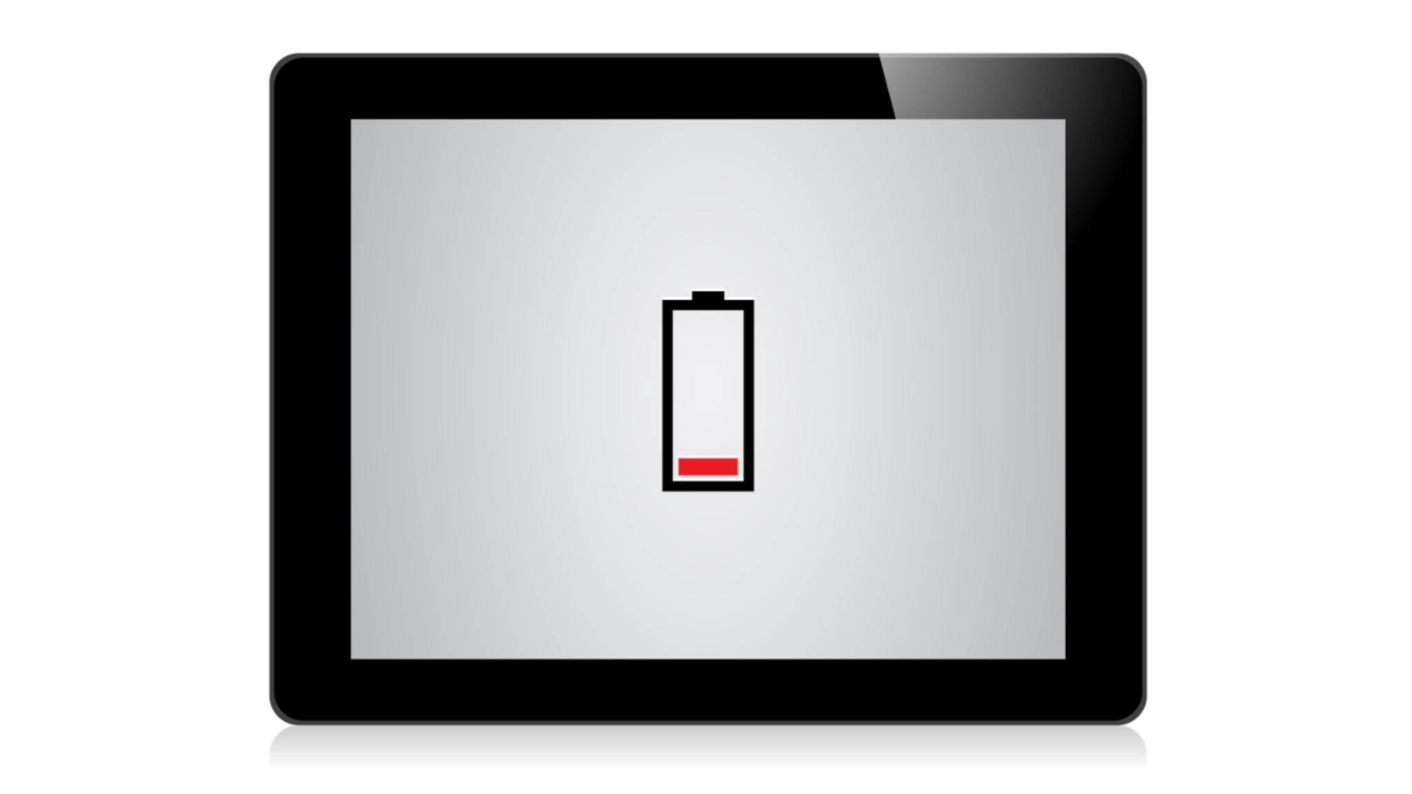 Akkuanzeige auf dem iPad