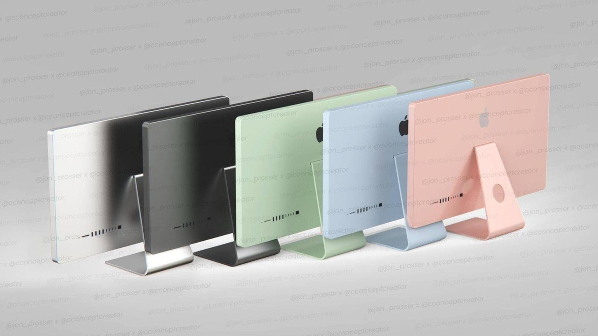 Farbenfroh: Die neuen iMacs könnten in den Farben des iPad Air erscheinen.