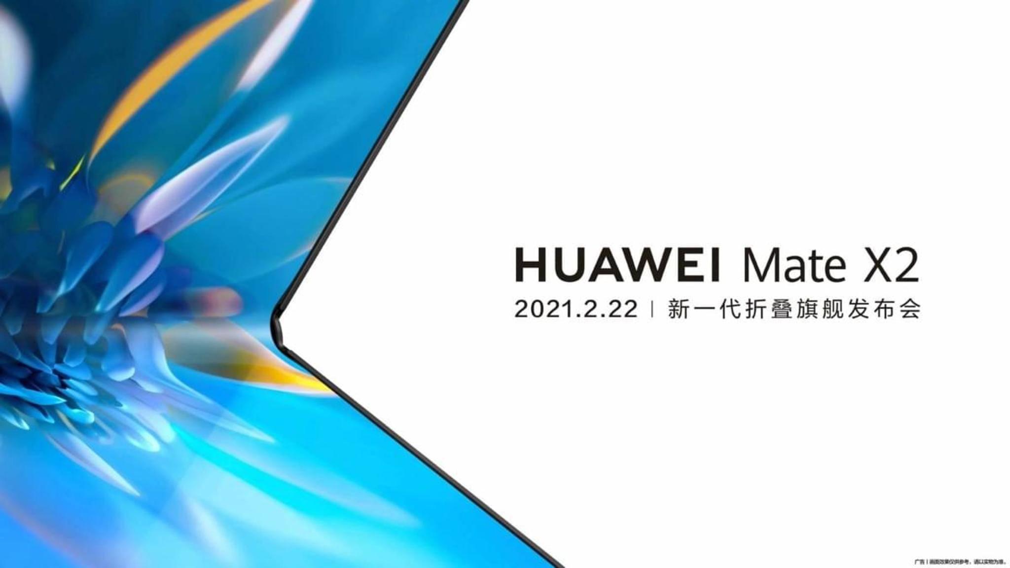 Huawei hat den Termin mitgeteilt, an dem das Huawei Mate X2 das Licht der Welt erblicken soll.