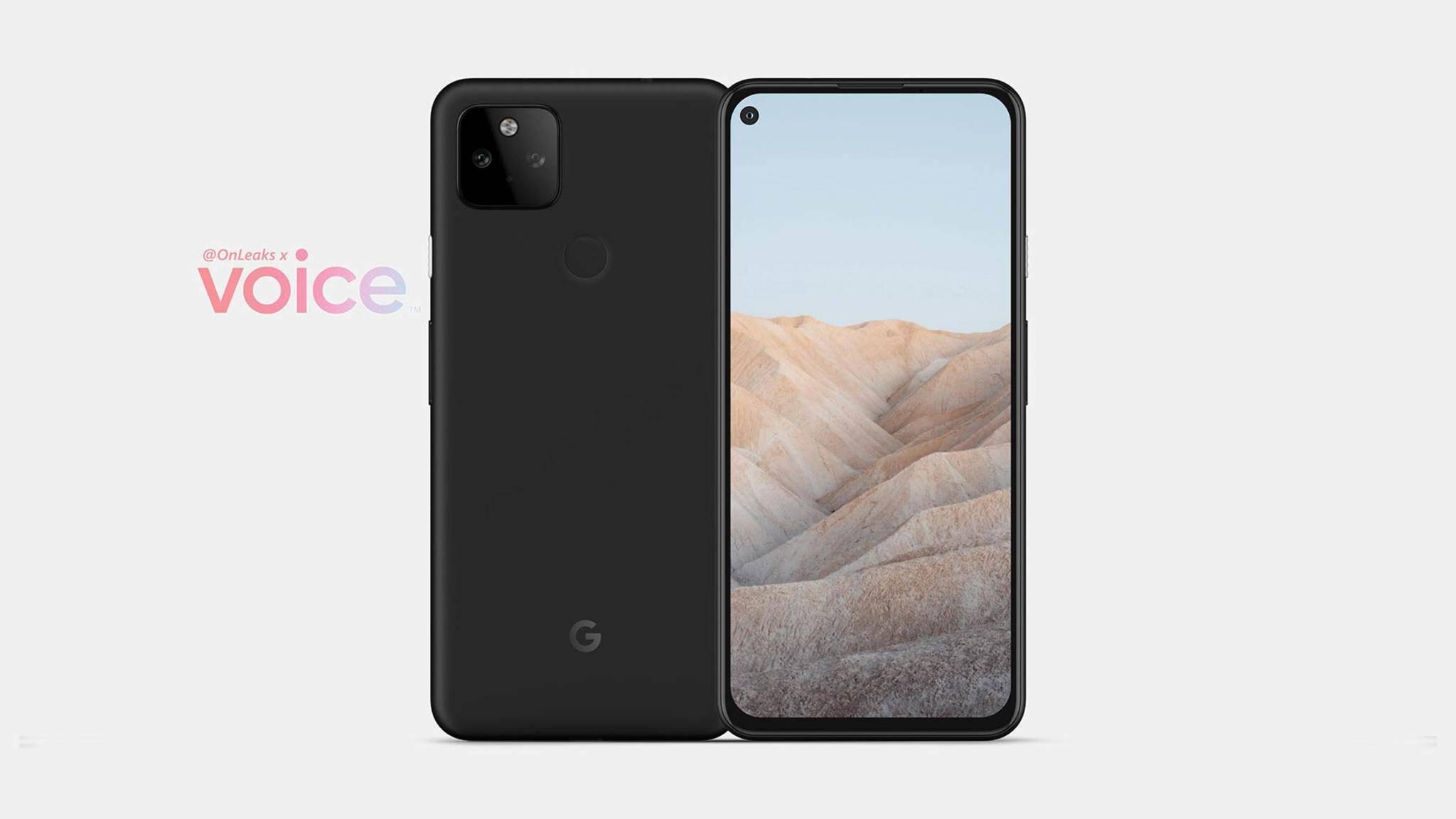 Sieht aus wie das Pixel 4a 5G, soll aber das neue Pixel 5a sein.