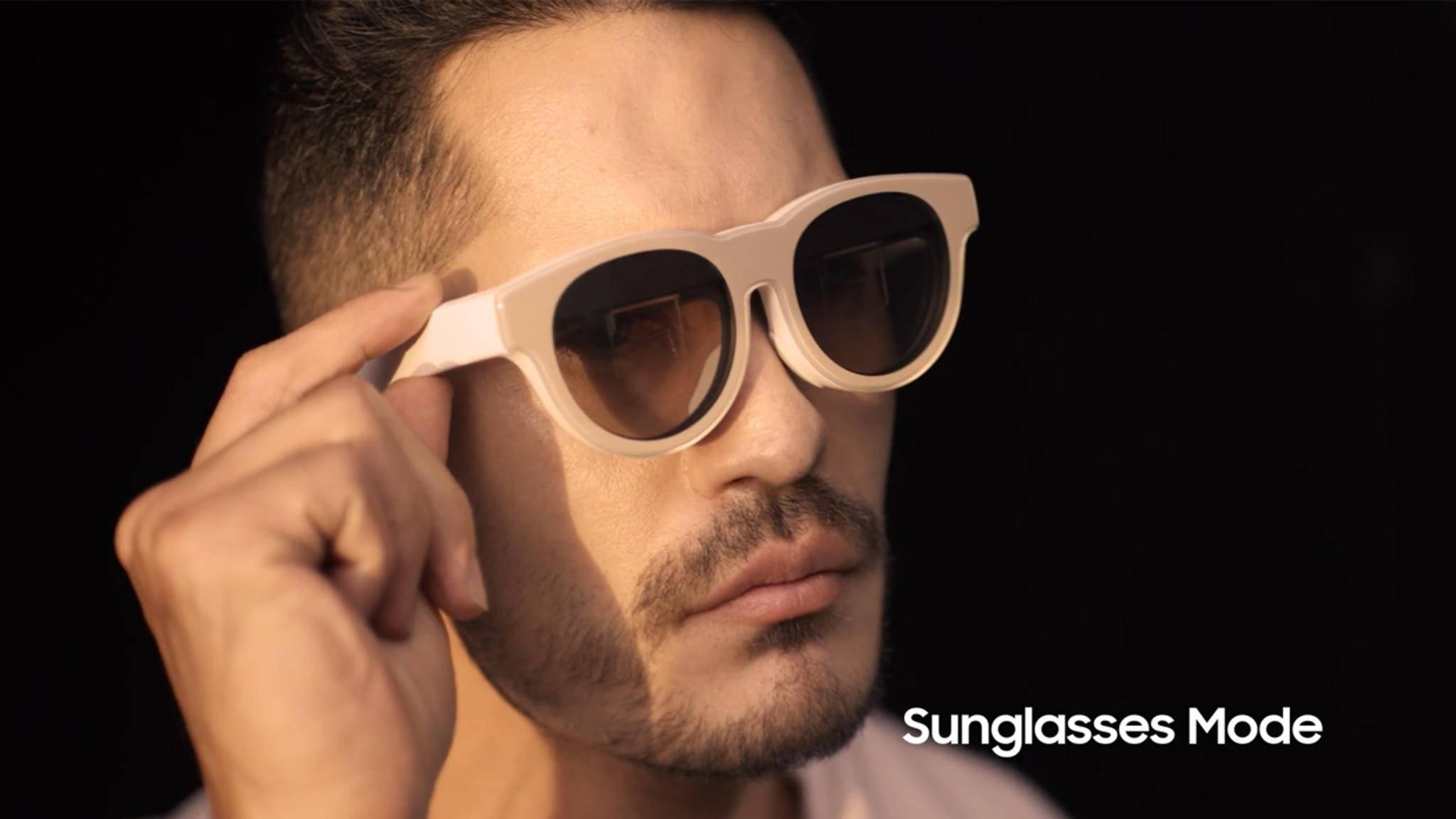 Die Samsung AR Glasses Lite können für den Einsatz im Freien abgetönt werden.
