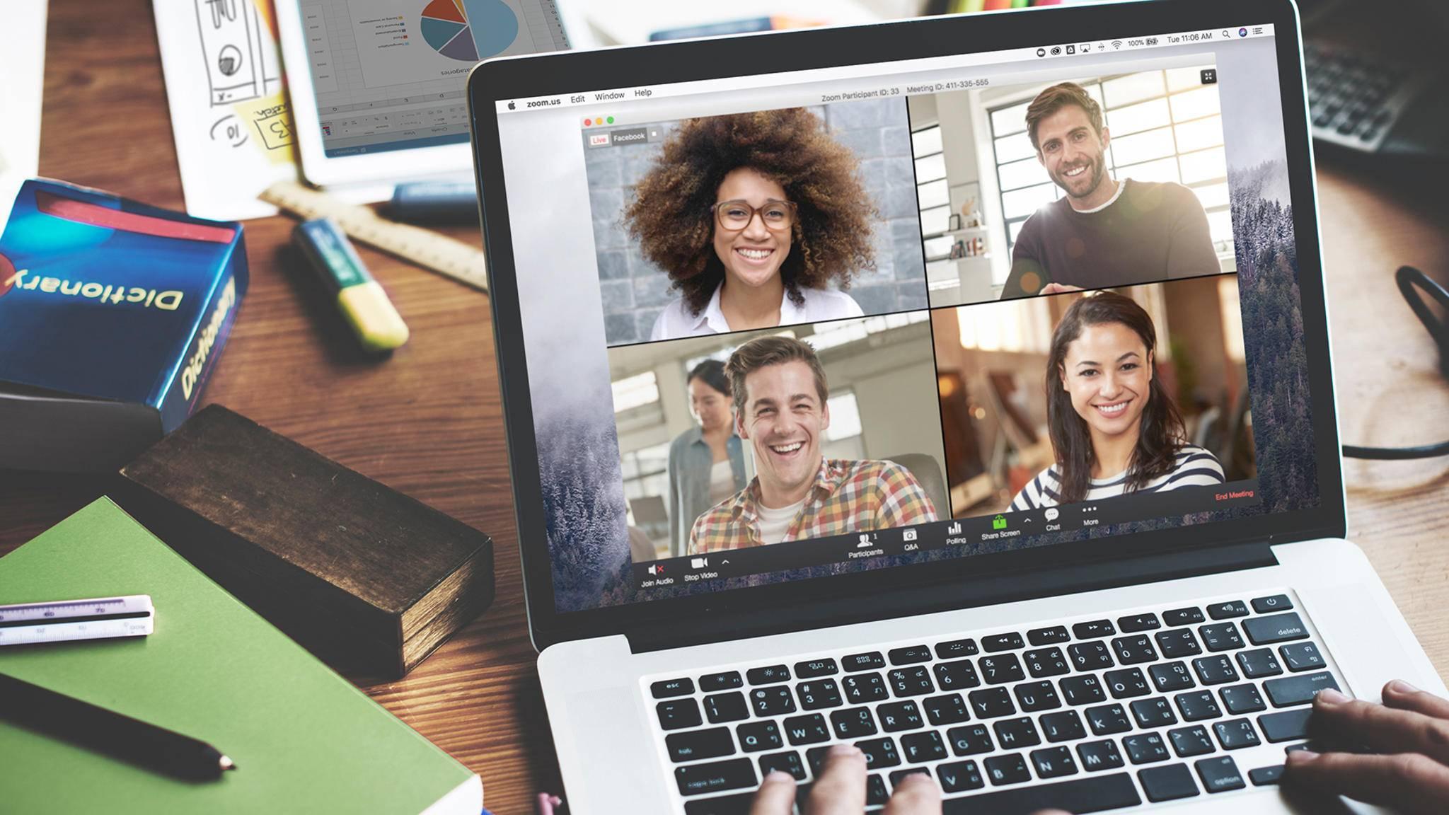 Den Bildschirm zu teilen, bietet sich zum Beispiel für eine Präsentation in einem Meeting an.