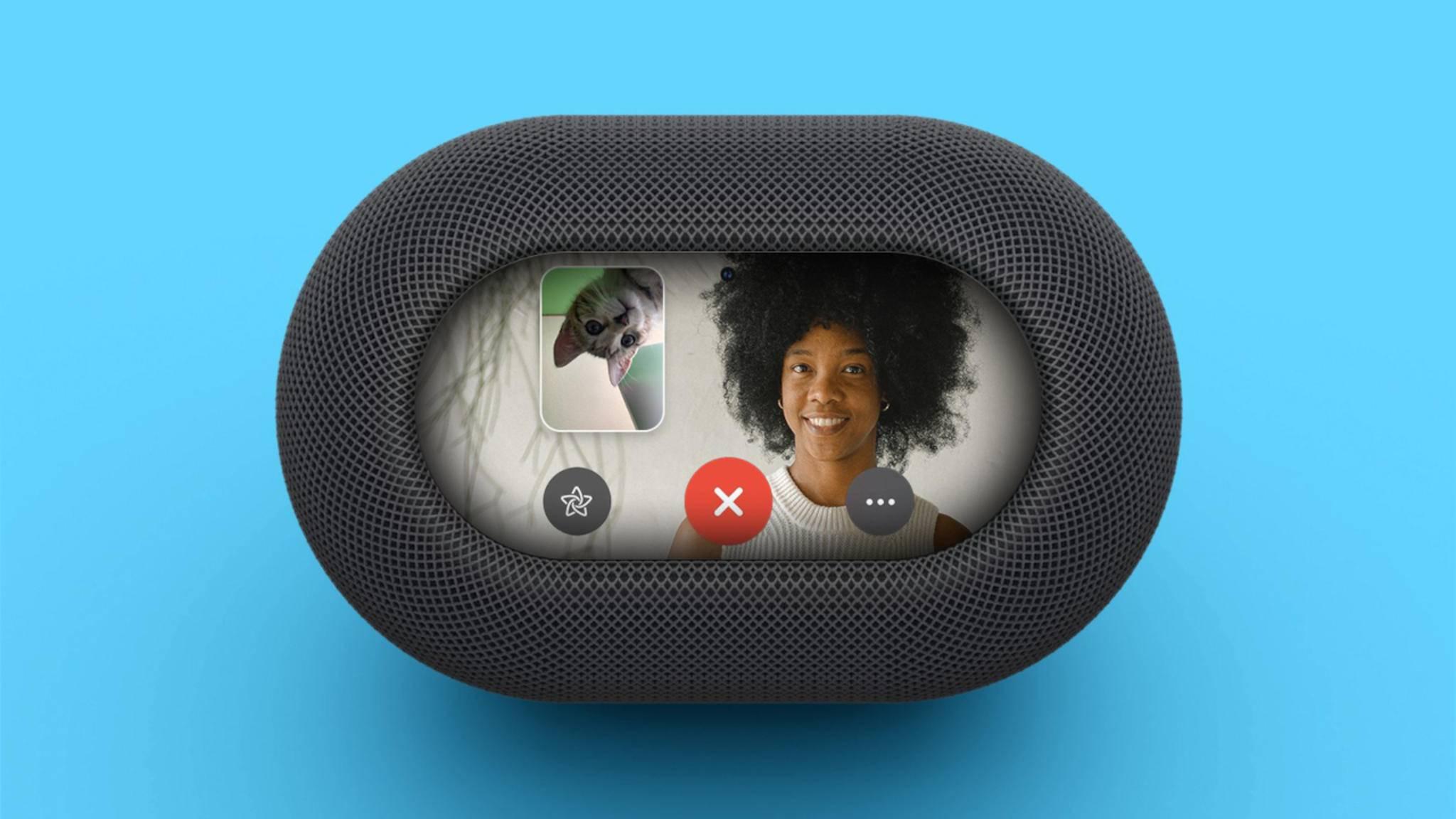 Konzeptbild: So könnte ein HomePod mit Display aussehen.