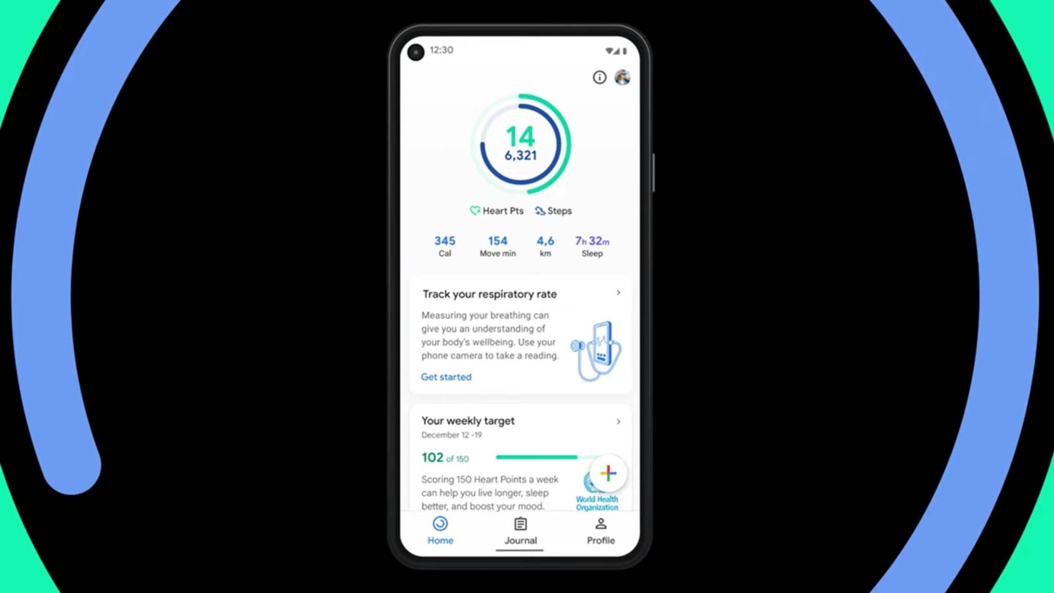 Die Google-Fit-App kann jetzt unter anderem die Atemfrequenz messen.