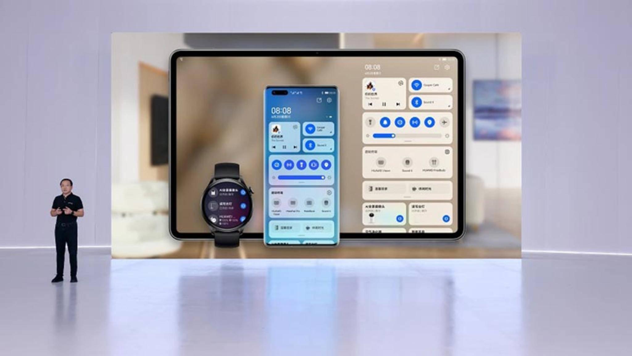 Für sein neues Betriebssystem setzt Huawei vor allem auf das Zusammenspiel mit anderen Geräten und dem Smartphone als Herzstück.