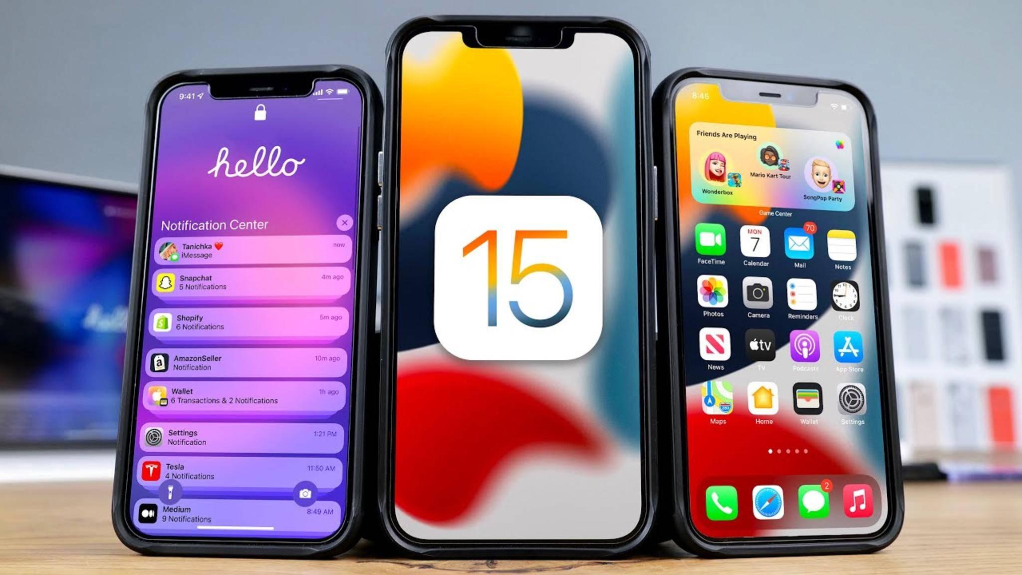 Die öffentliche Beta von iOS 15 steht zum Download bereit.