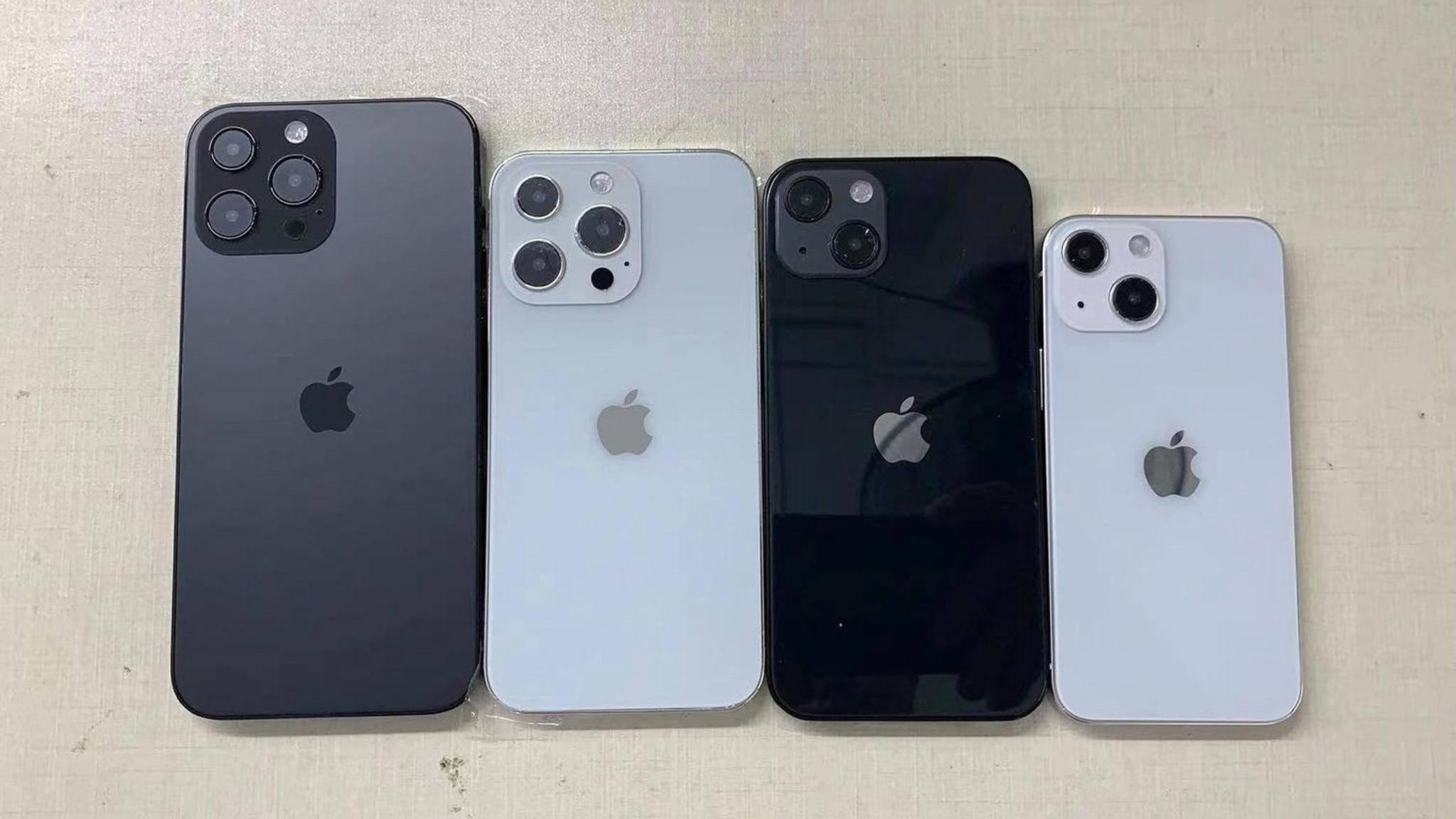 So sollen die Kameras der neuen iPhone-13-Modelle aussehen.
