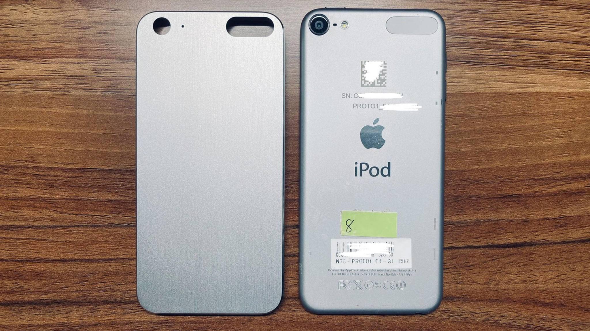 Dieses Bild eines alten iPod-touch-Prototypen ist jetzt im Netz verbreitet worden.